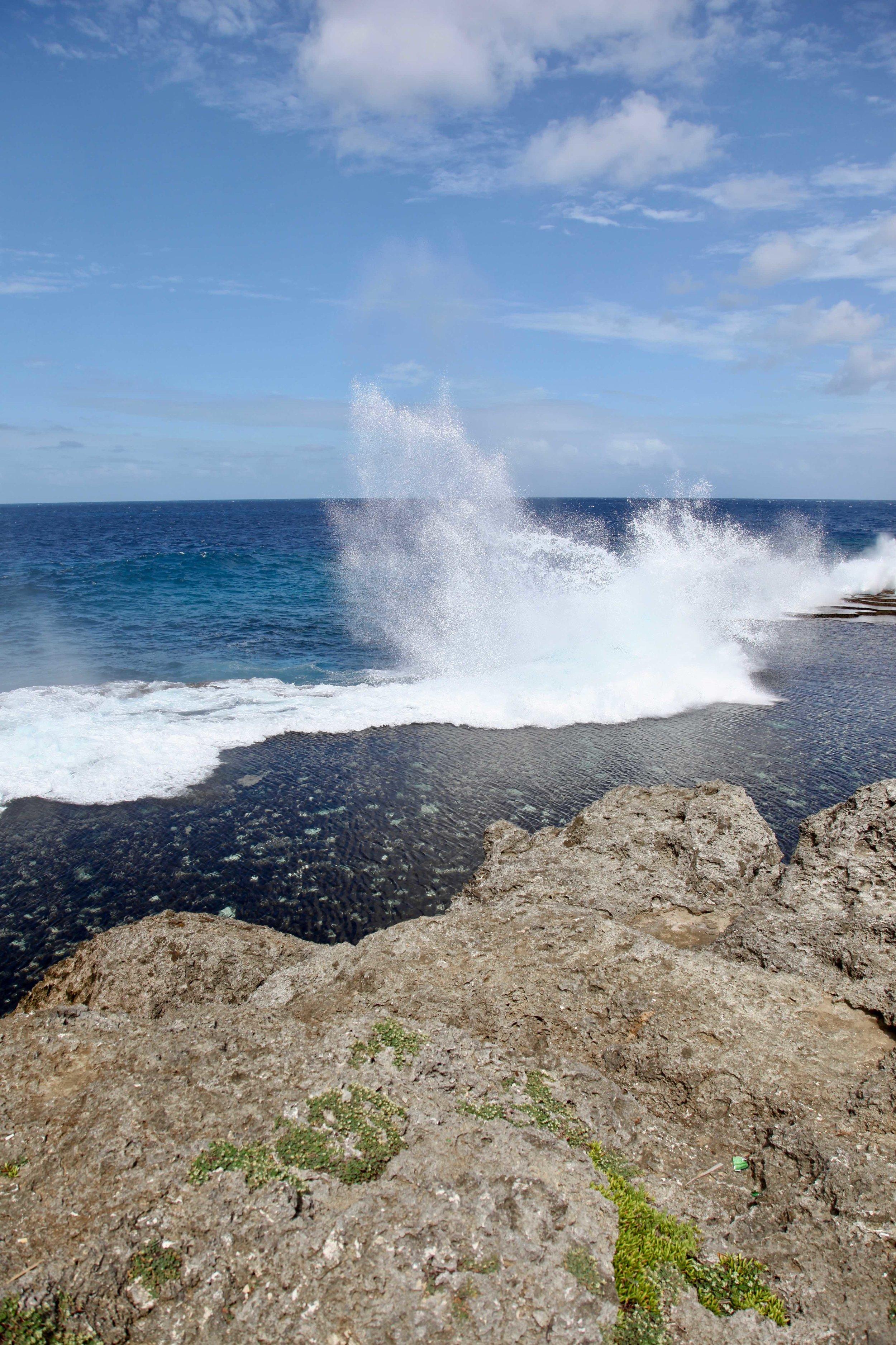 Blowhole coastline, Tonga