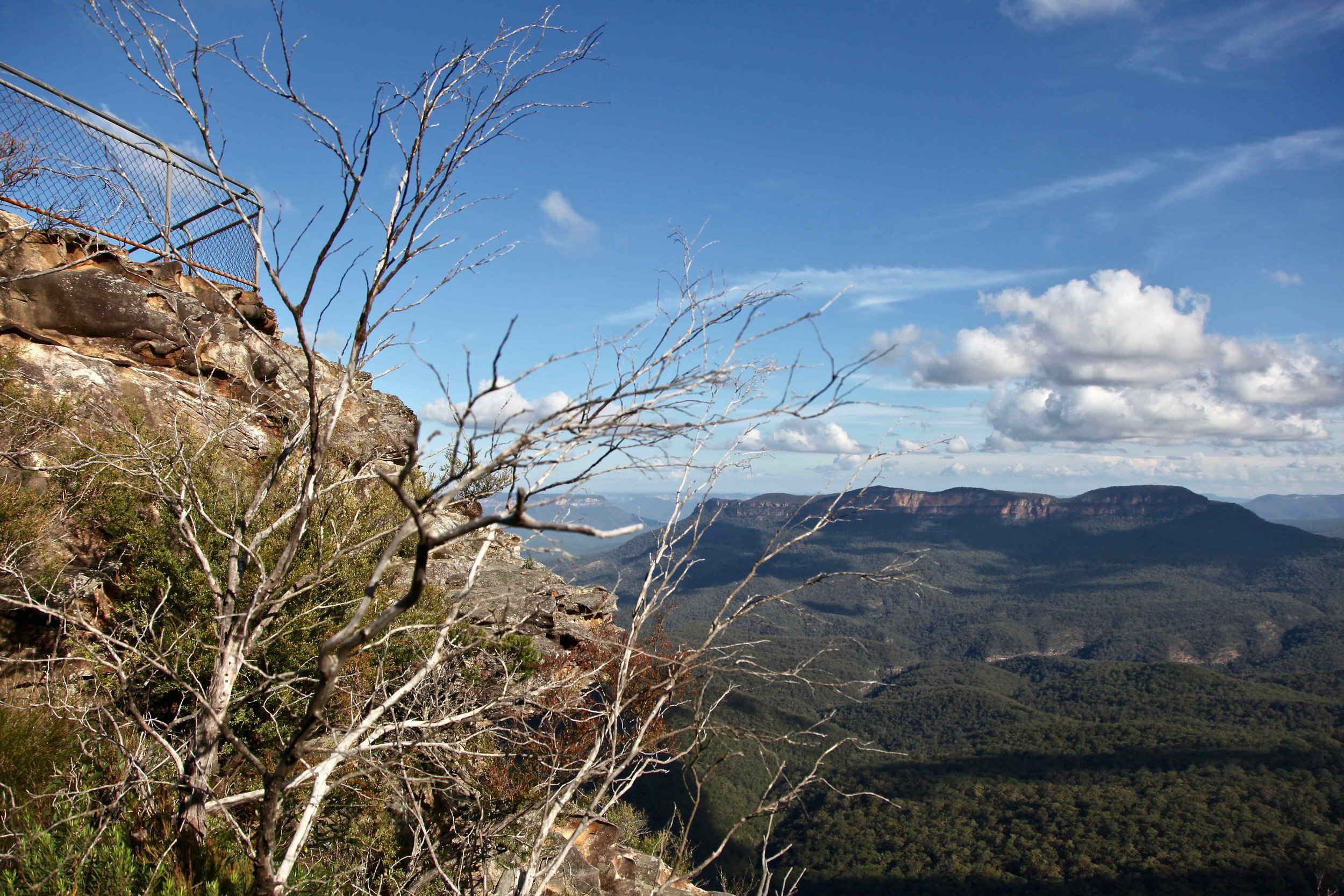 Elysian Rock looks out over the valley near Leura.