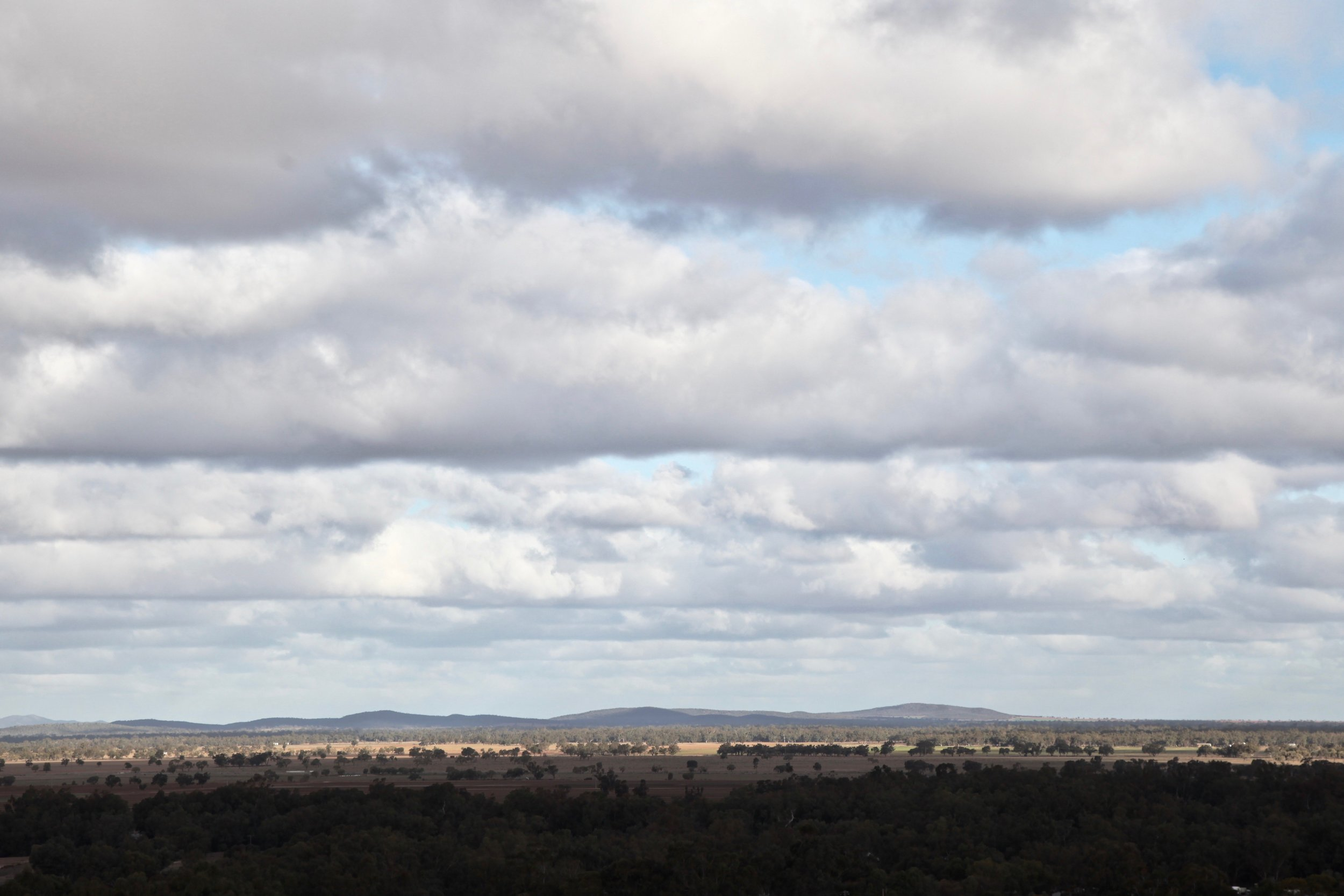 View from Reservoir Hill Lookout on Brady Street in Condobolin.