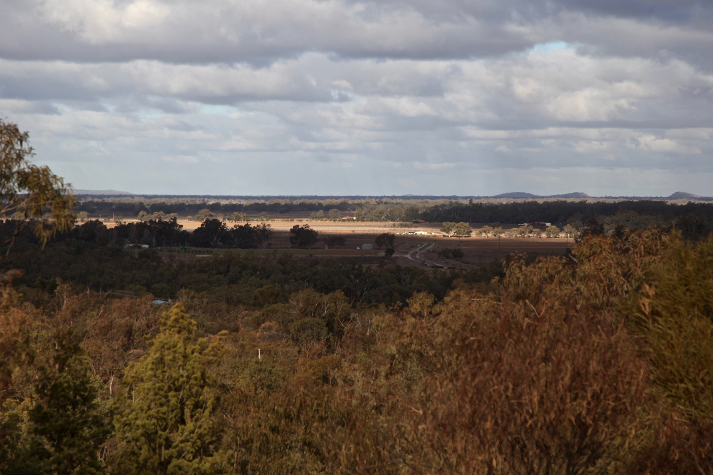 The view from Condobolin's Reservoir Hill Lookout.