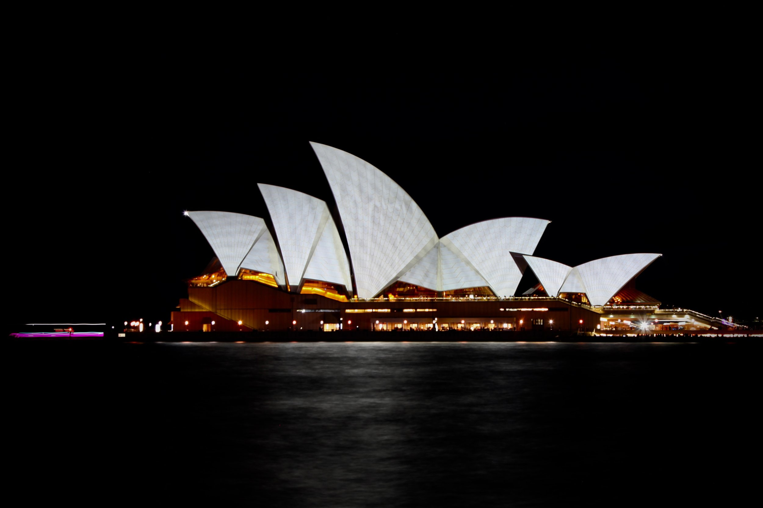 The Sydney Opera House lit up during the annual Vivid festival.