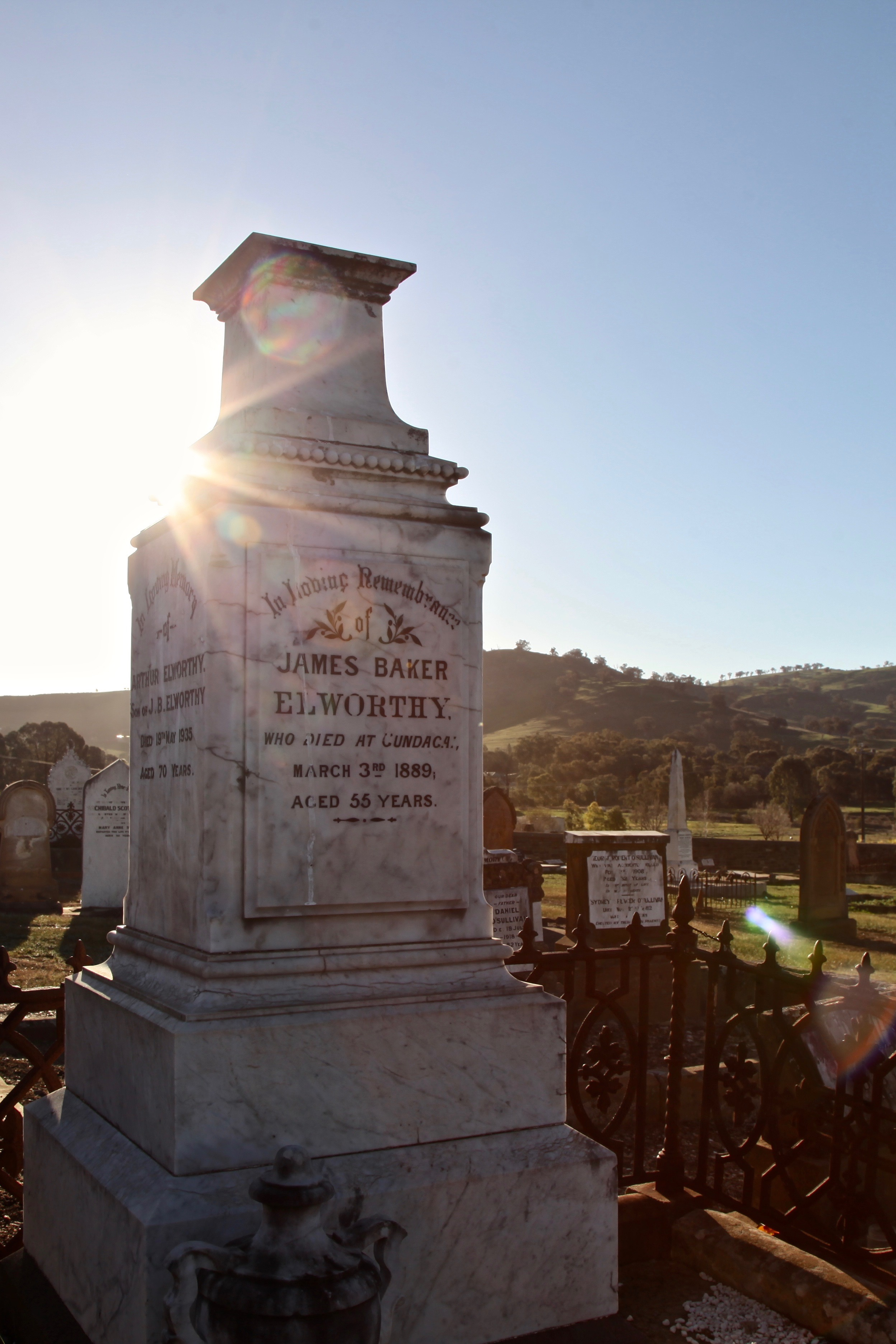 James Baker Elworthy was the founding publisher of the town's local paper, The Gundagai Times.