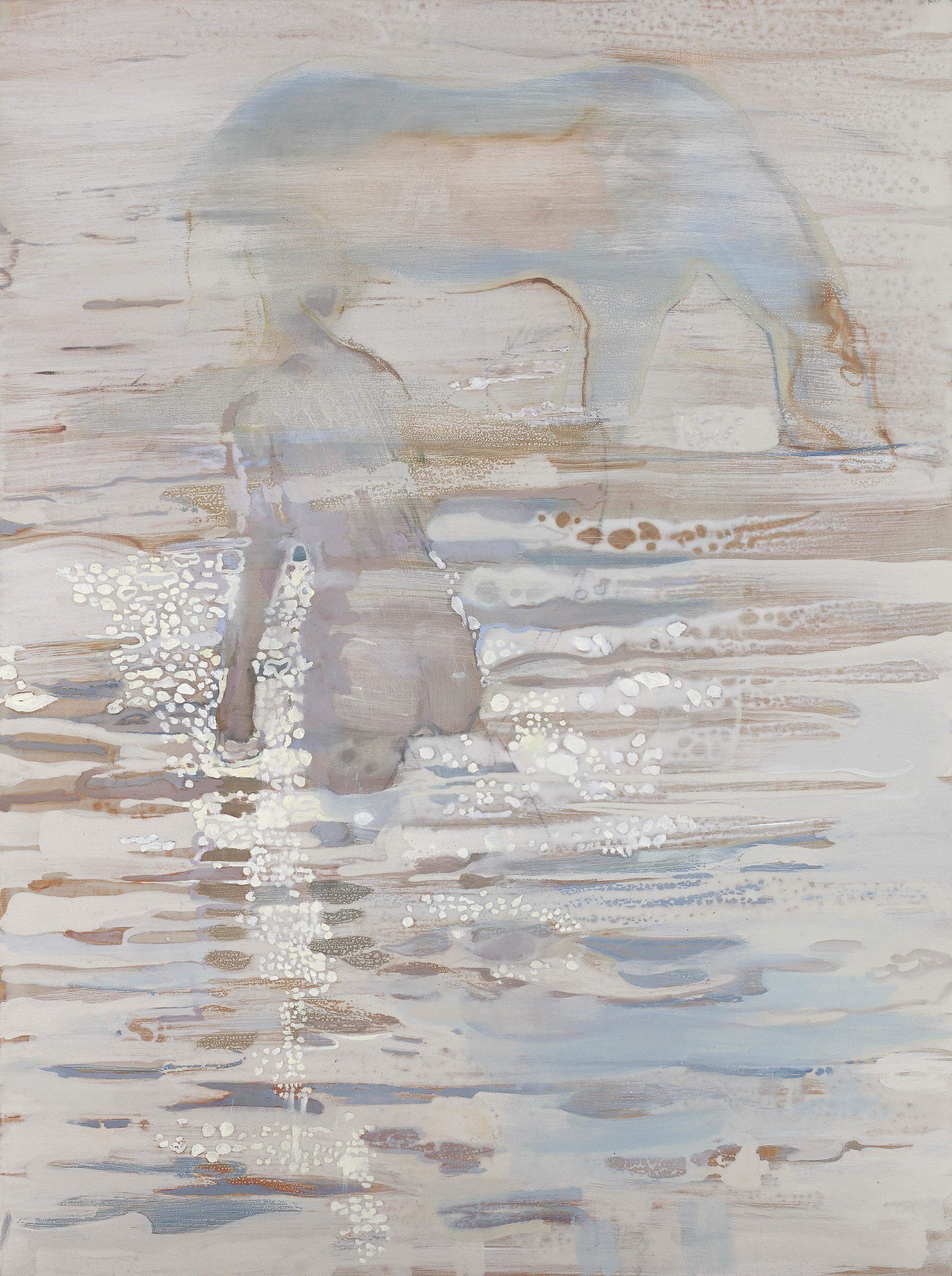 'Sunrise Swim' Oil on Linen 121 x 91 cms