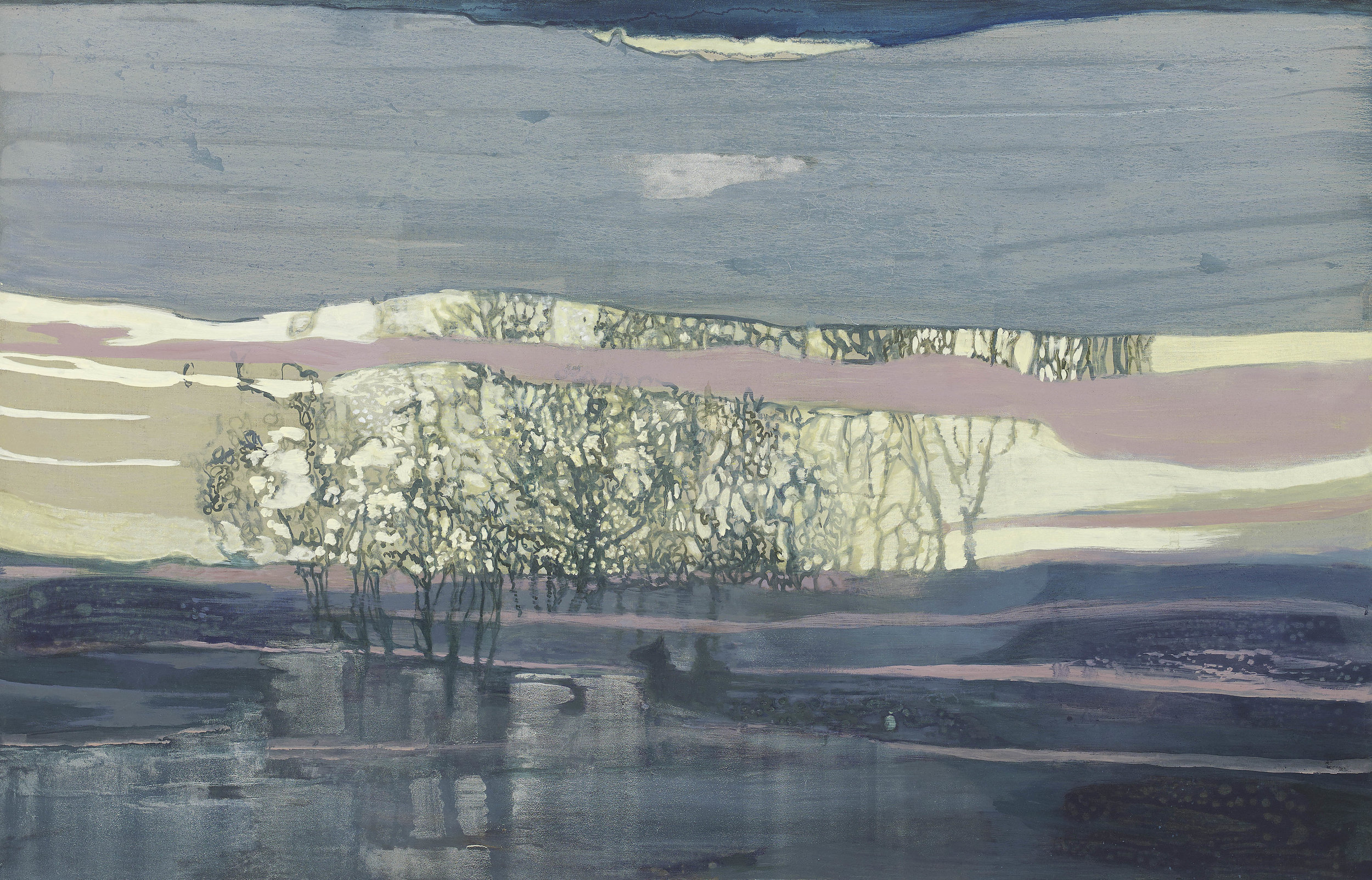 'The Crossing' oil on linen 44¼ x 68 ins 112.5 x 173cms