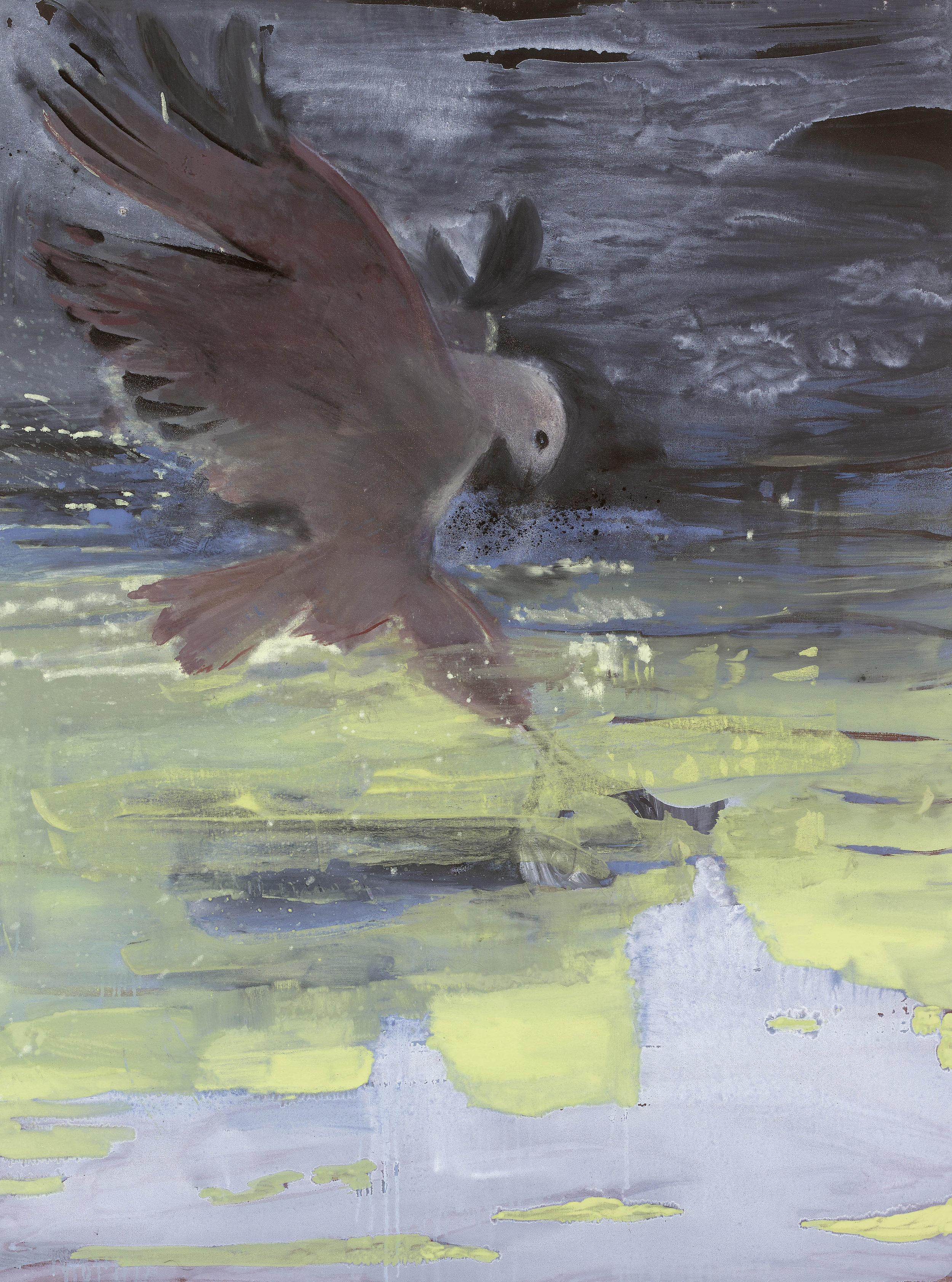 'The Prey' oil & pigment on linen 121 x 90 cms