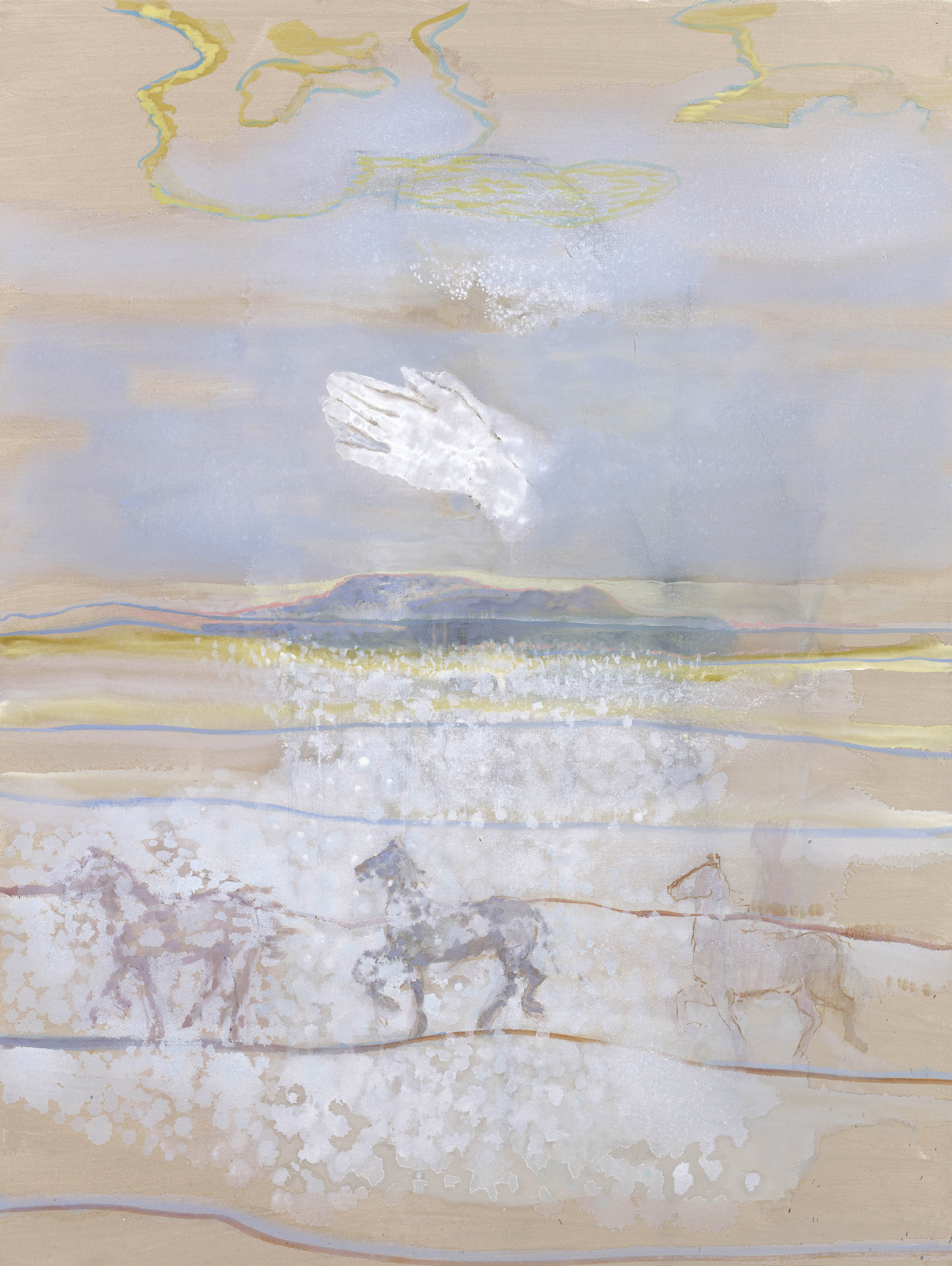'Ghost Horses' oil & pigment on linen 121 x 90 cms