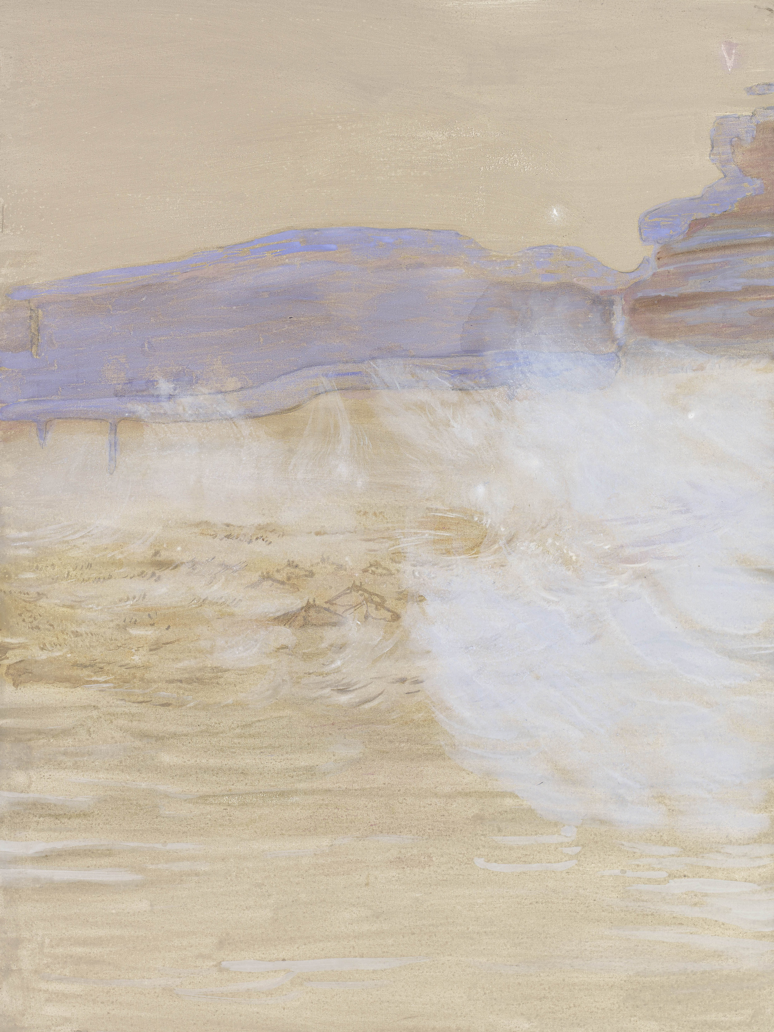'Horse Island at Dusk' oil & pigment on linen 121 x 90 cms