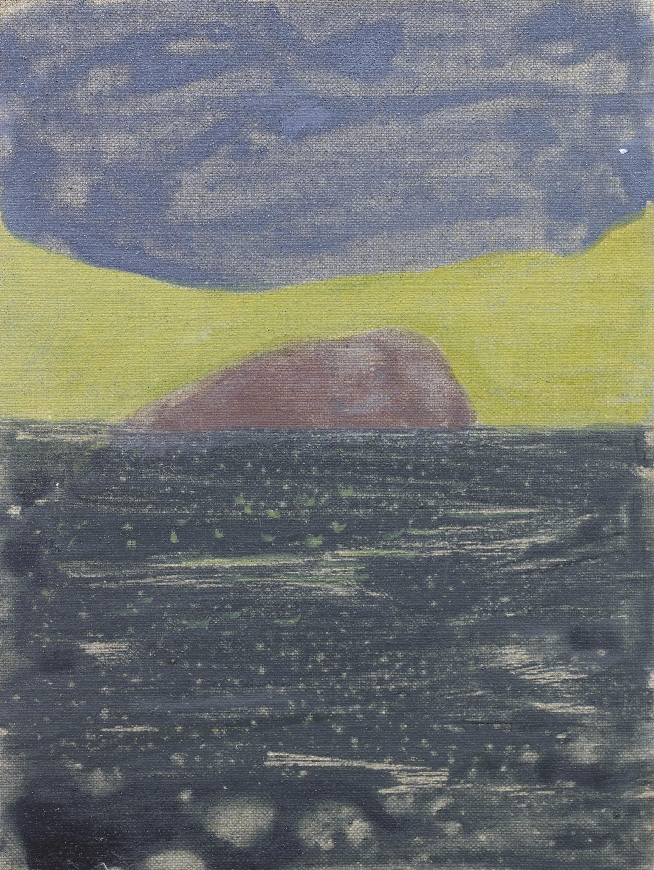 'Horse Island I' Oil on Linen 9½ x 7¼  ins 24 x 18 cms