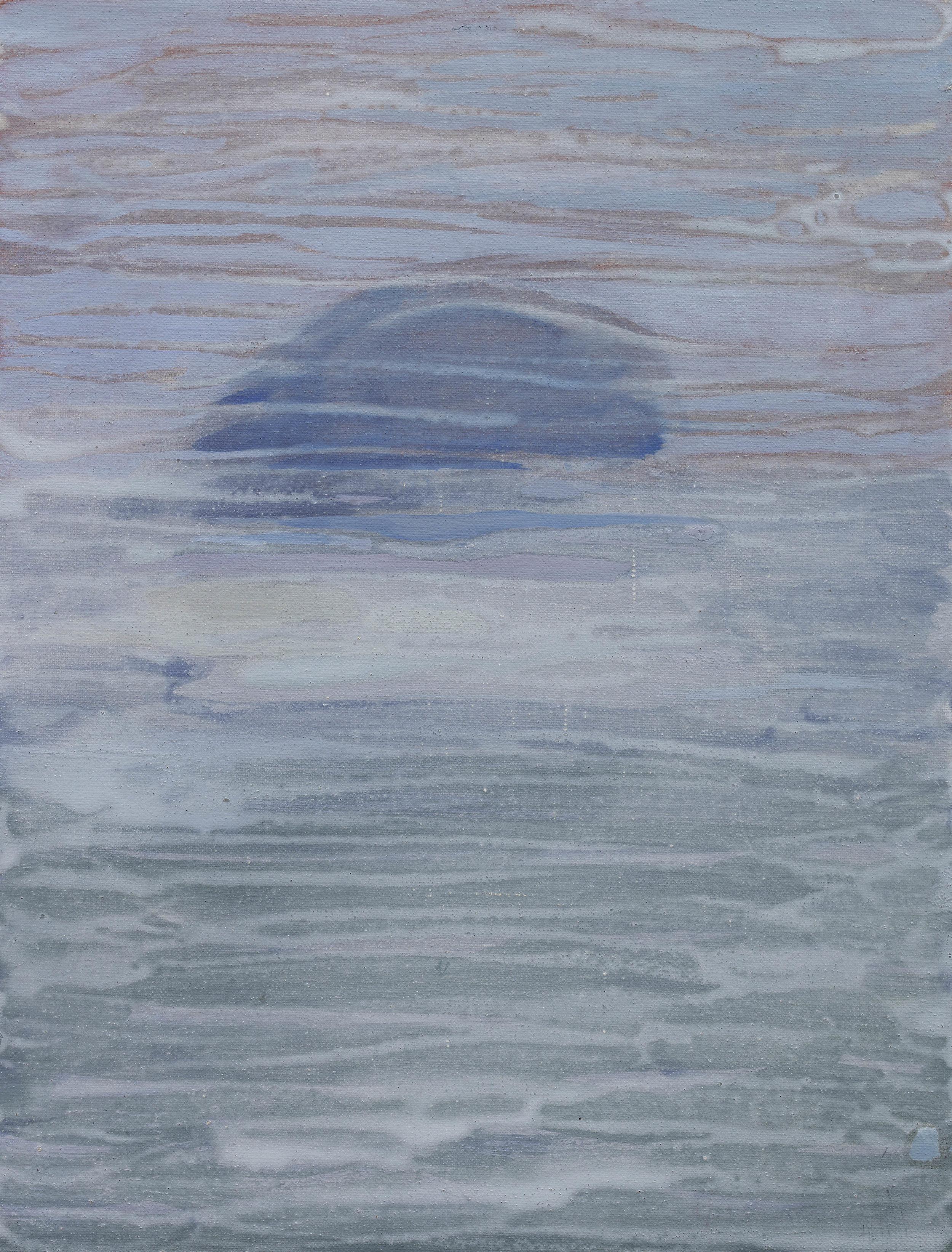 'Island' Oil on Linen 15½ x 11¾ ins 40 x 30 cms