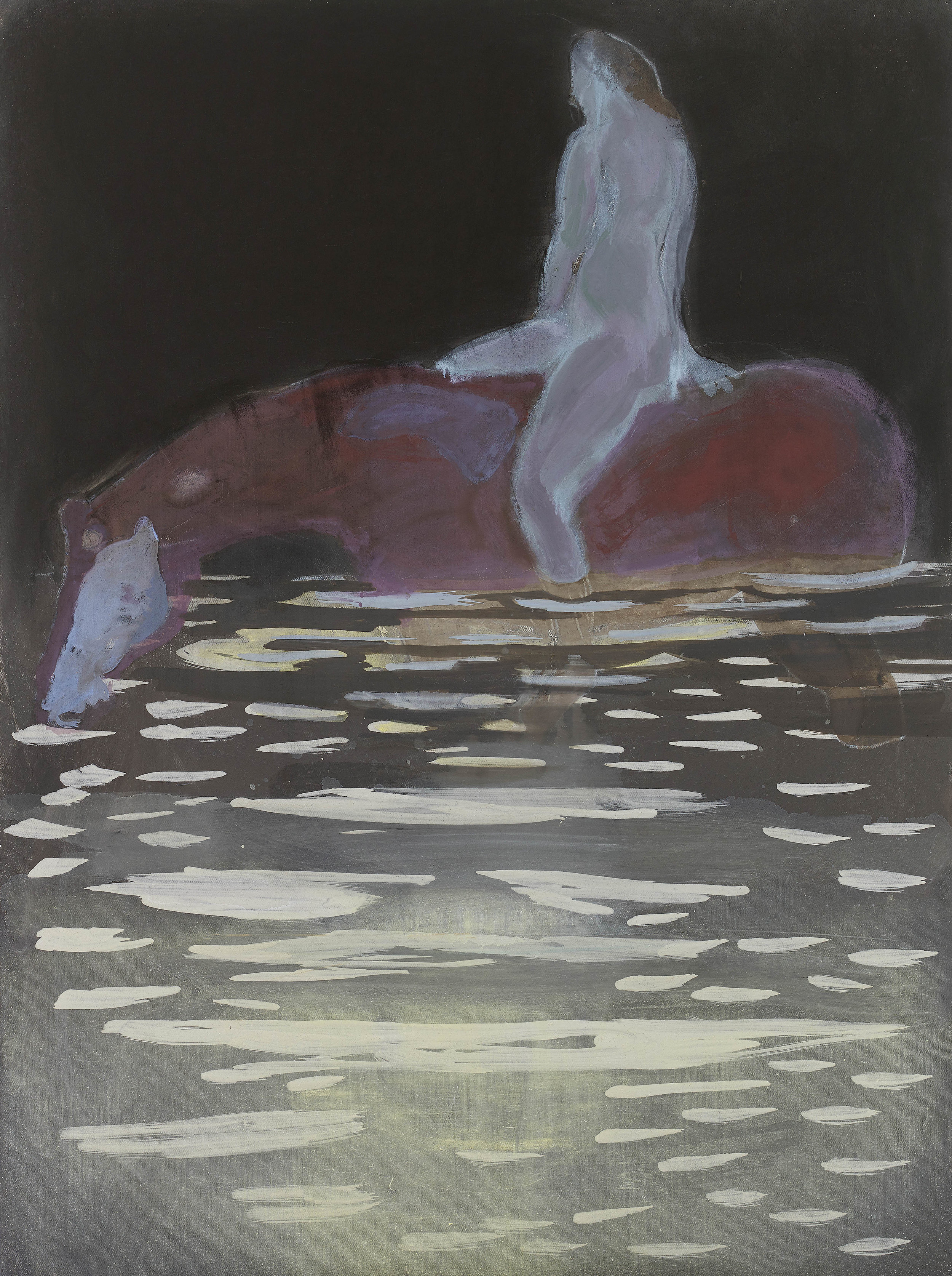 'Night Swim' oil on linen 121 x 91 cms