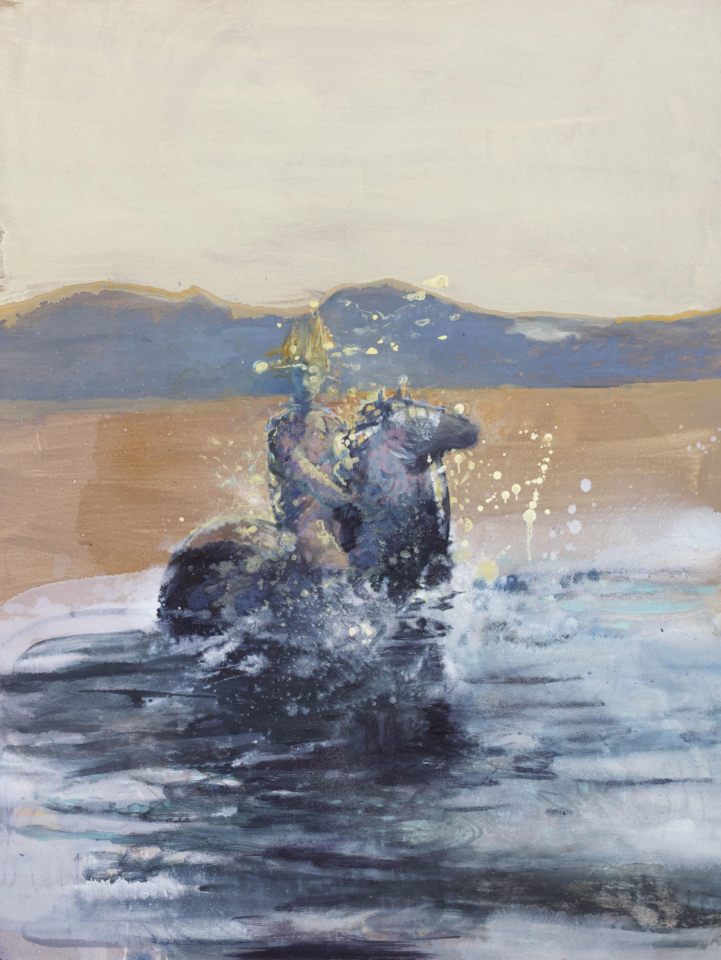 'Phantom Rider' oil & pigment on linen 121 x 90 cms