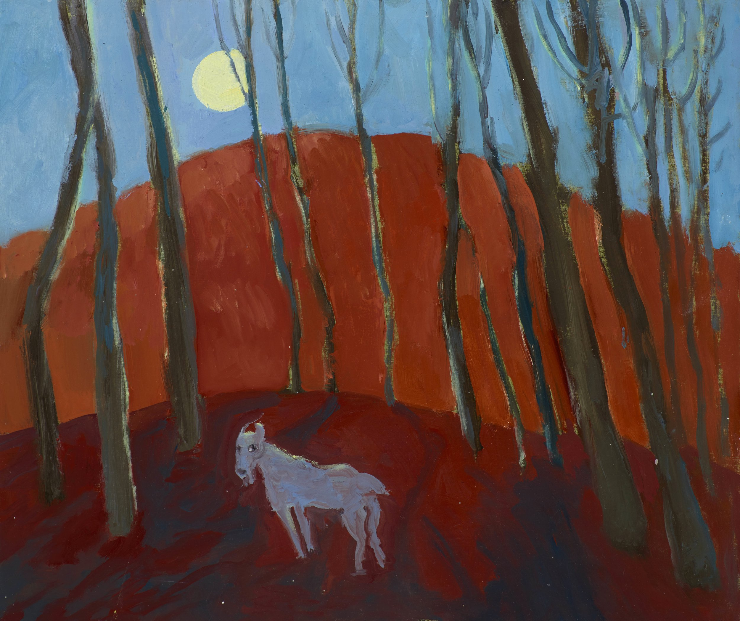 woodland creature and the moon -oil on board 30x35 cm appx.jpg