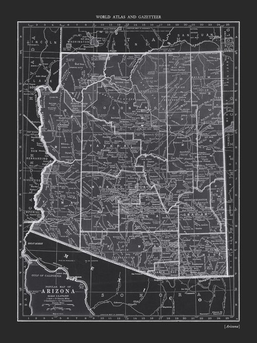 COPPERSTATE COLLECTION - ARIZONA BLACK MAP