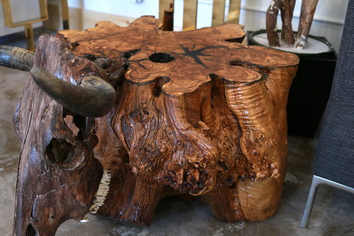 LUMBERLUST DESIGNS - OLIVE WOOD ROOT BALL COFFEE TABLE