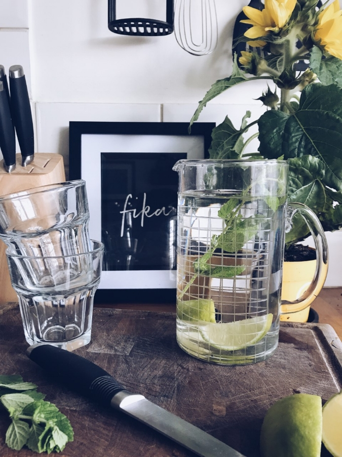New glass jug from  Moth Style  in West Didsbury - one of my all time favourite interior shops.