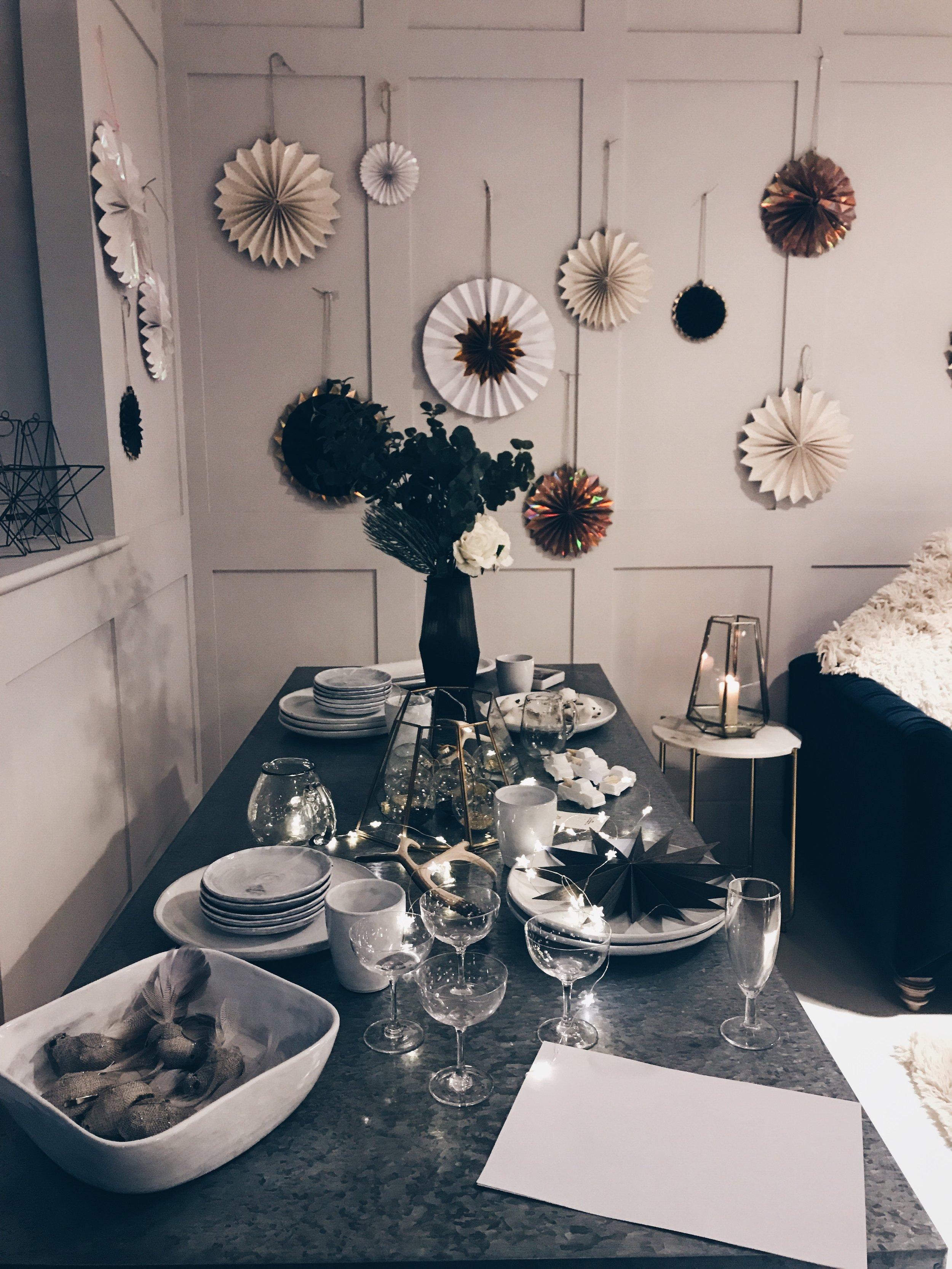 Rose & Grey Christmas Display