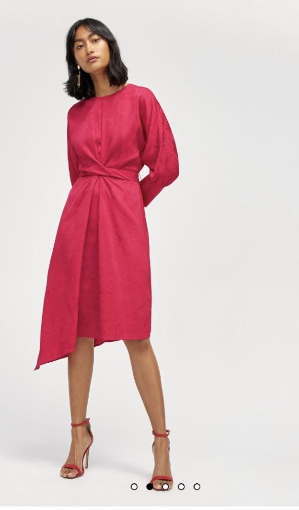Warehouse - Batwing Jacquard Dress