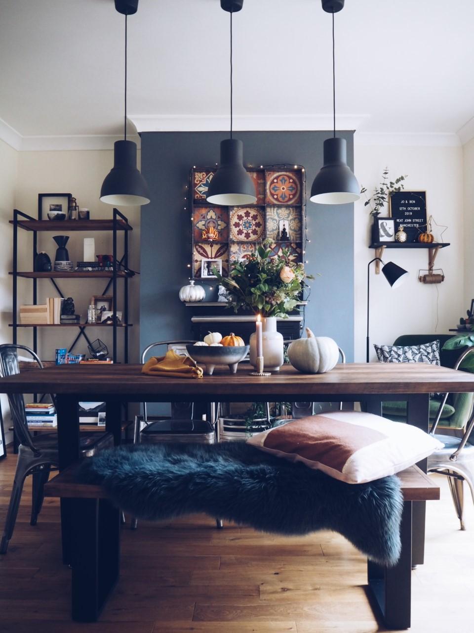 Autumnal Dining Room Decor