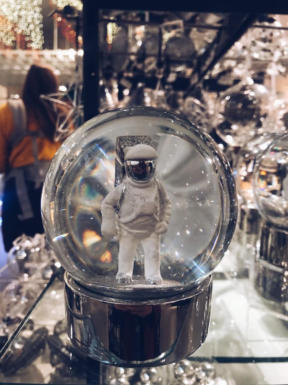 Astronaut Snow Globes by John Lewis