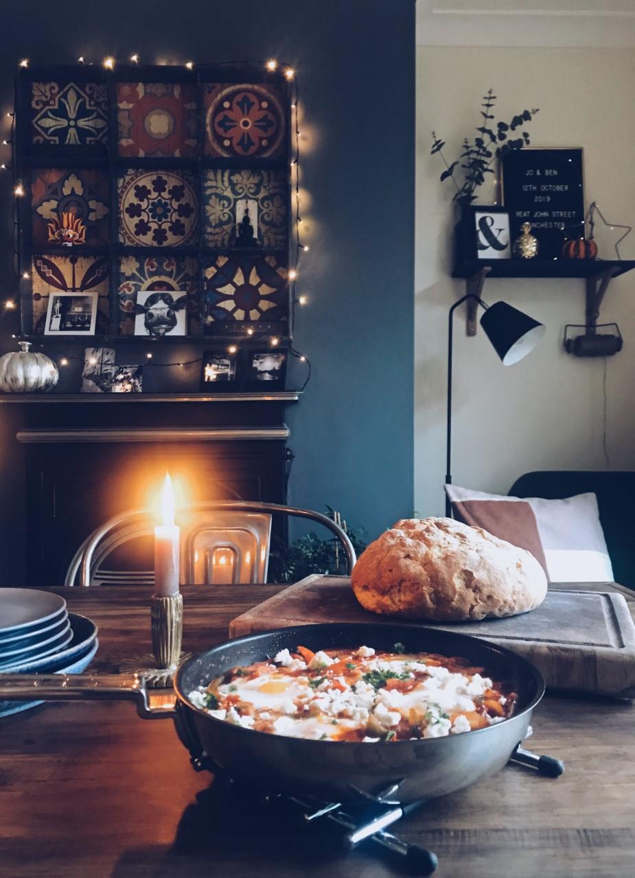BBC Good Food Shakshuka with Campden Cookware Frying Pan