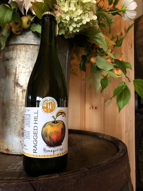 Honeycrisp - Made from 100% estate grown Honeycrisp apples from our 2018 harvest7.1% alcohol by volumeSemi-sweet with flavors of honey, caramel and ripe stone fruit.  Full bodied and complex. No sugar addedNaturally gluten freeLimited seasonal release - 100 cases producedAvailable in 750ml bottles