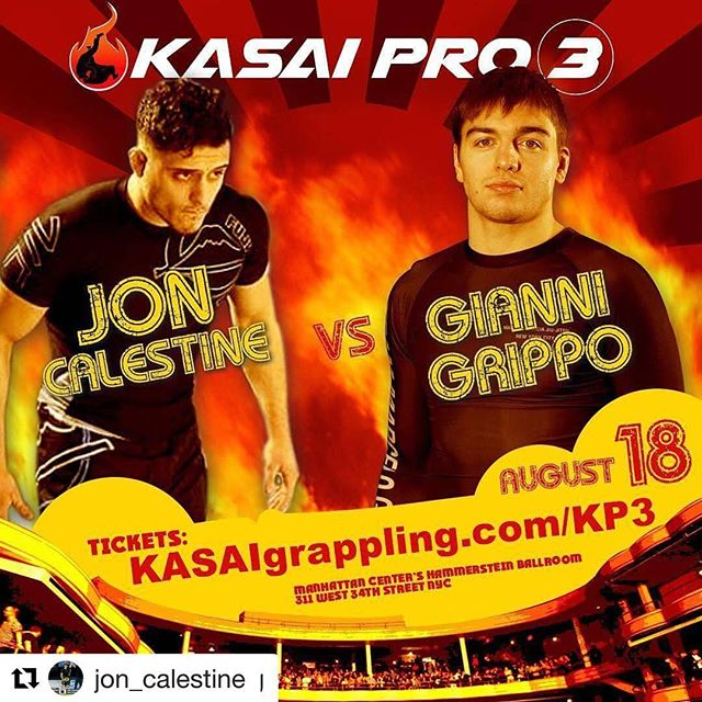 #Repost @jon_calestine with @get_repost ・・・ #Repost @kasaigrappling (@get_repost) ・・・ 🔥 Who prevails when these two styles collide on August 18? | Gianni Grippo vs. Jon Calestine, #KASAIPro3 | 🎟: KASAIgrappling.com/KP3 and live on @flograppling 🔥