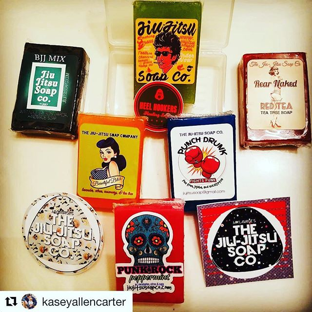#Repost @kaseyallencarter with @get_repost ・・・ I'm a grown man, and feel just a little ashamed to say that I'm excited about bath products, but I can't help it. My order came in, and I got the hookup from @jitzsoap yesterday! I may not always look fresh, but with this package at least I know I'll always smell that way! Ready to check them all out! #jitzsoap #bjj