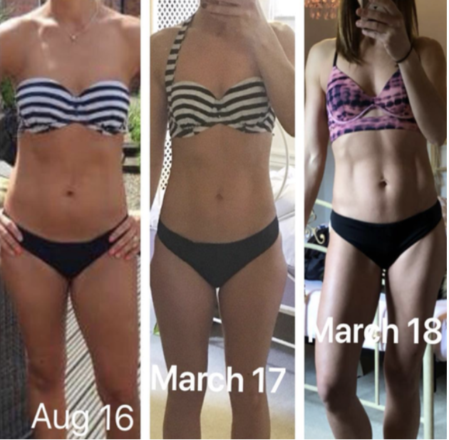 My 3 year transformation with Online Coaching.