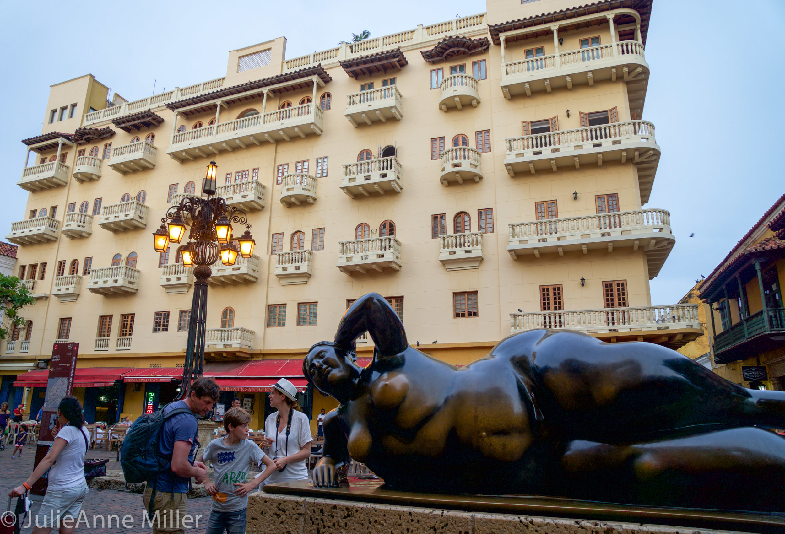 Botero's Fat Lady Sculpture