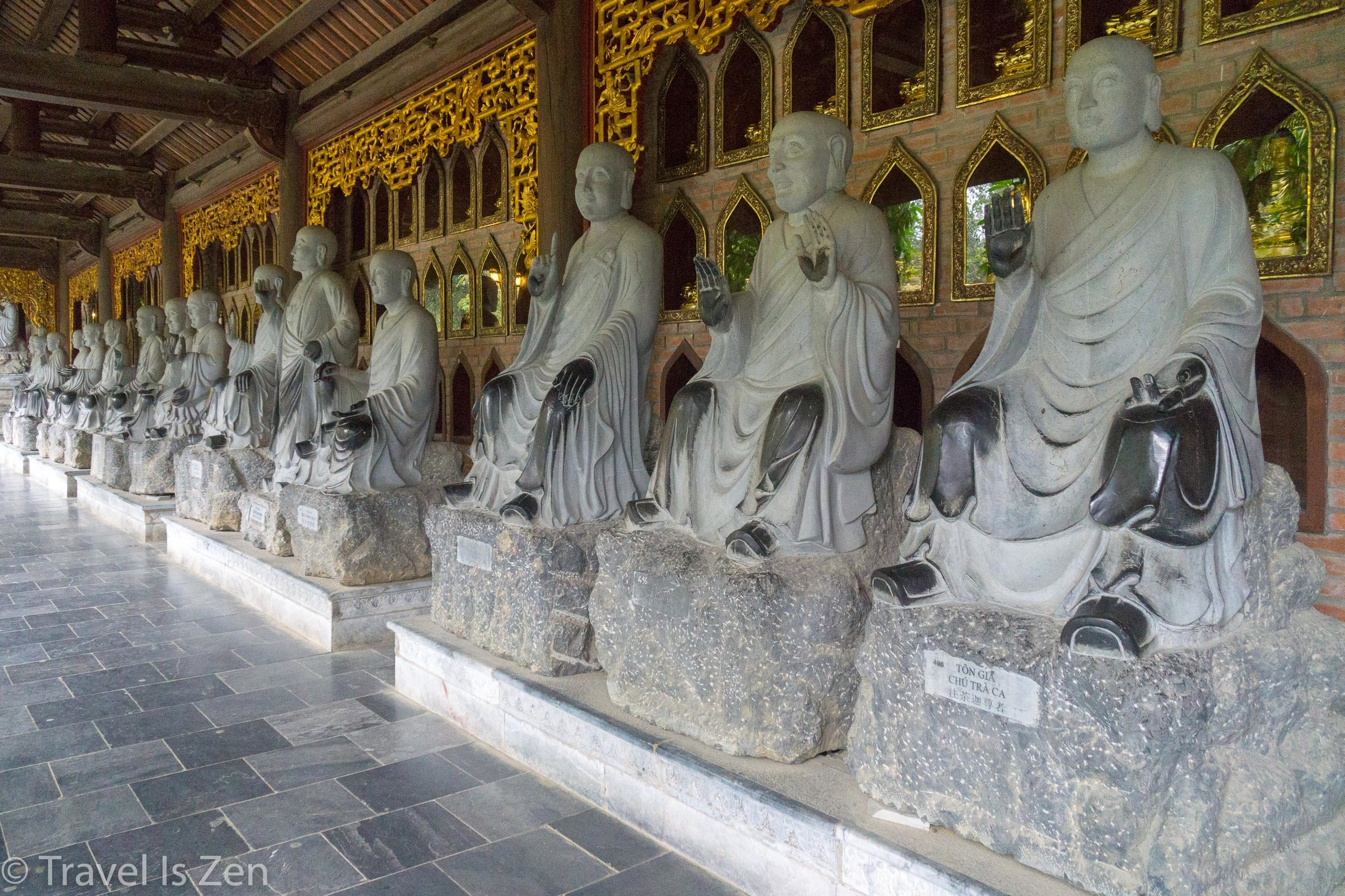 hall of monks, Bai Dinh Temple