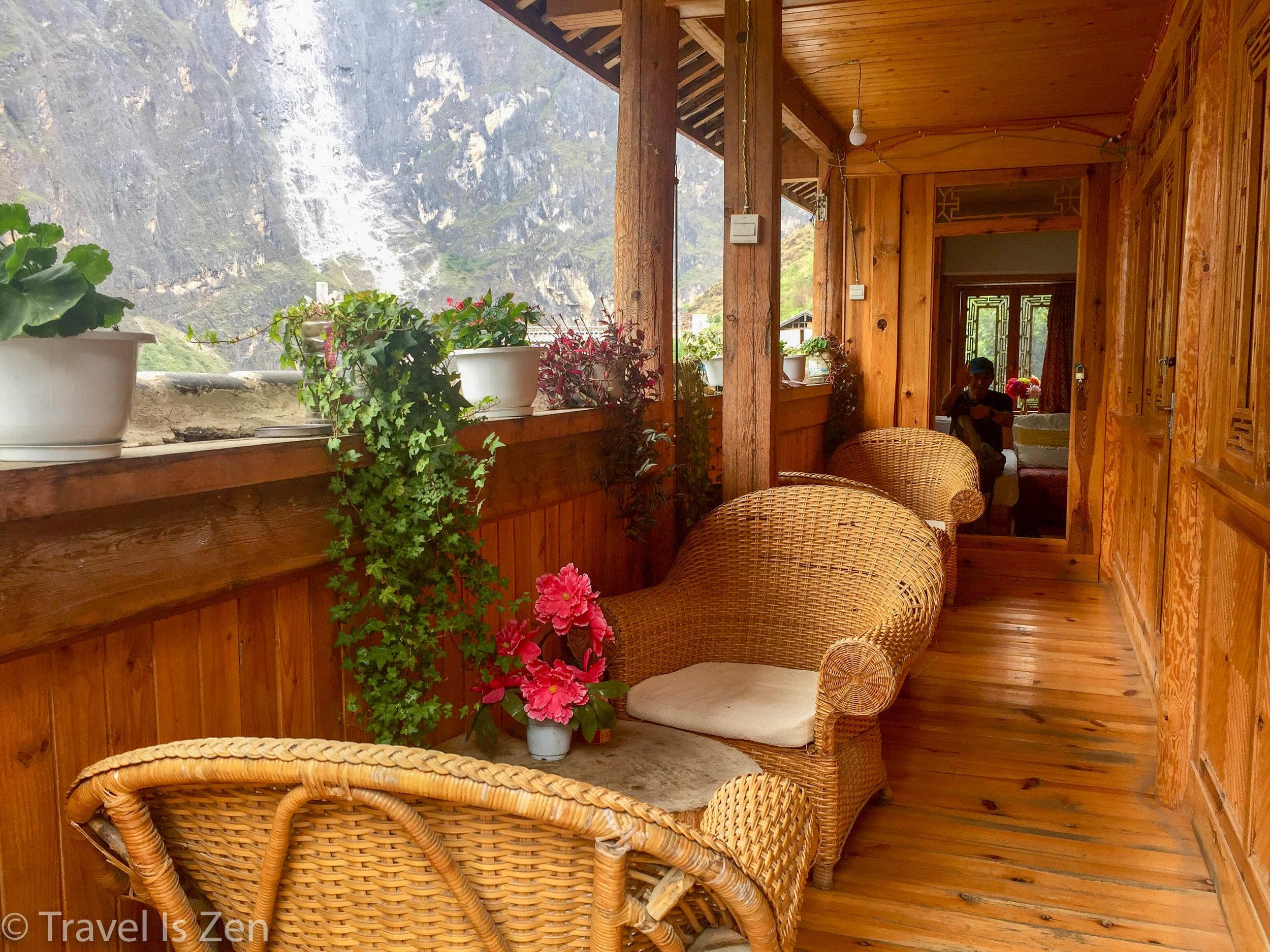 Relaxing at Tibet House
