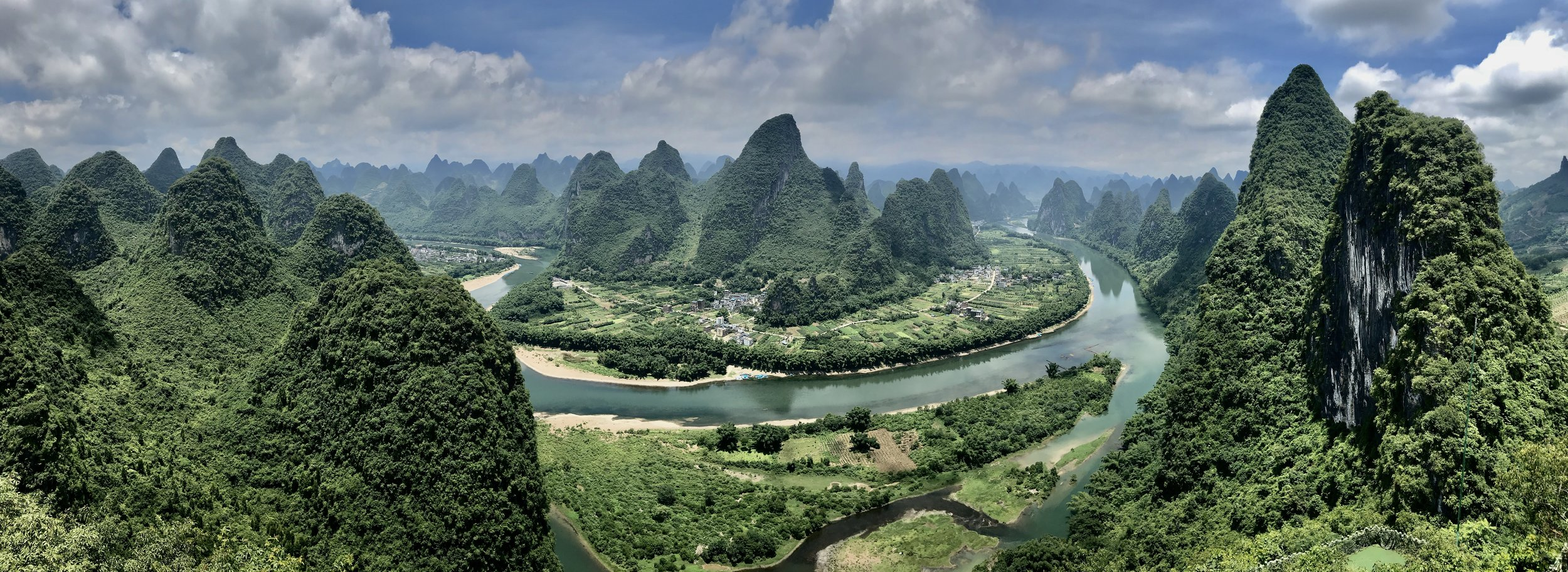 View from Xianggong Mountain, Xingping, Guangxi Province, China