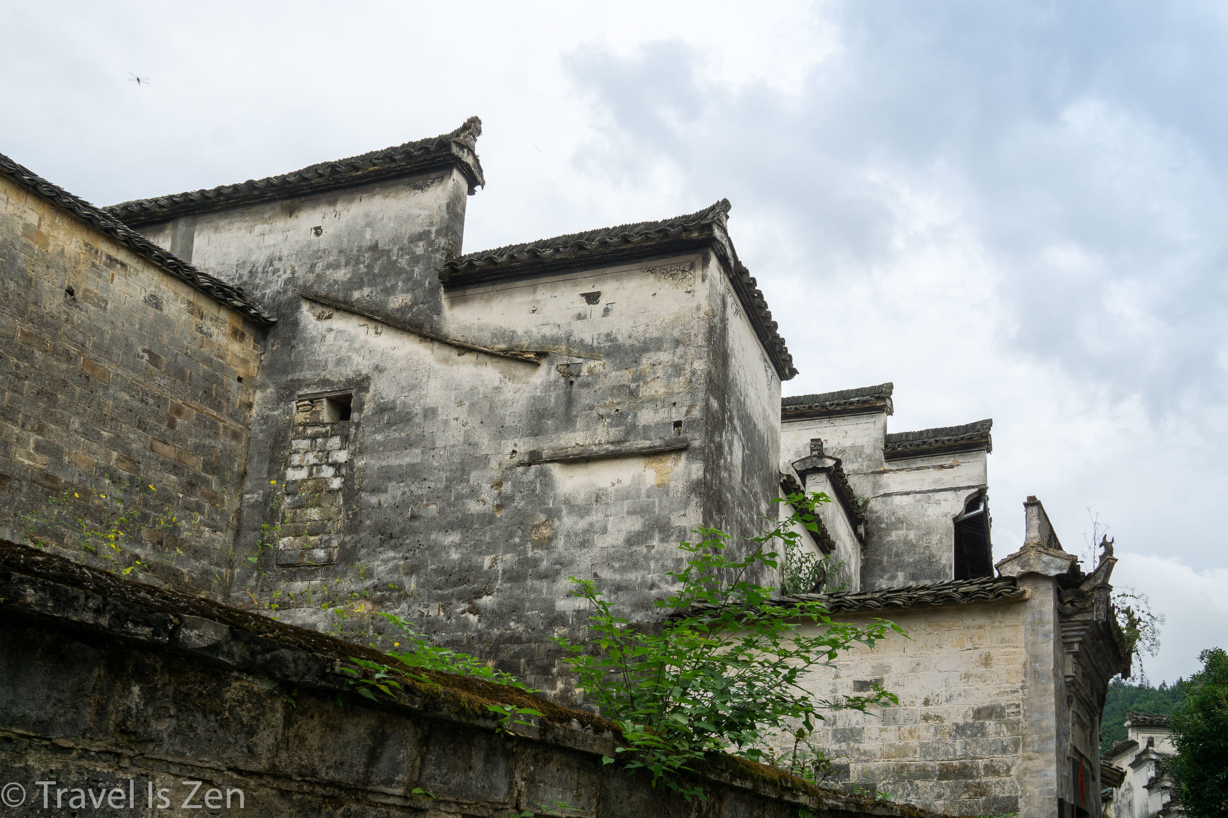 high walls and fire-blocking gables in Xidi, Anhui Province, China