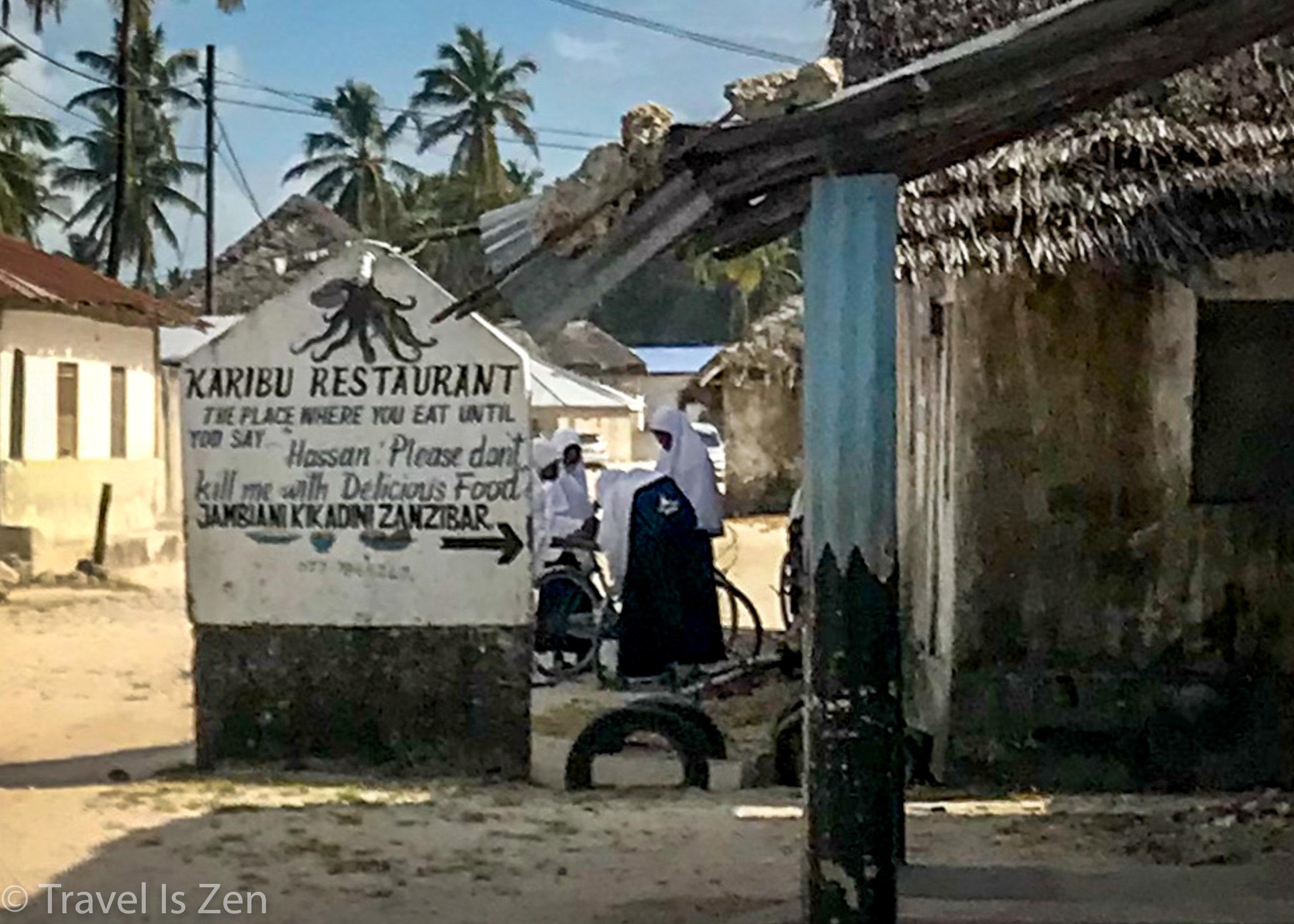 Karibu Restaurant, Jambiani