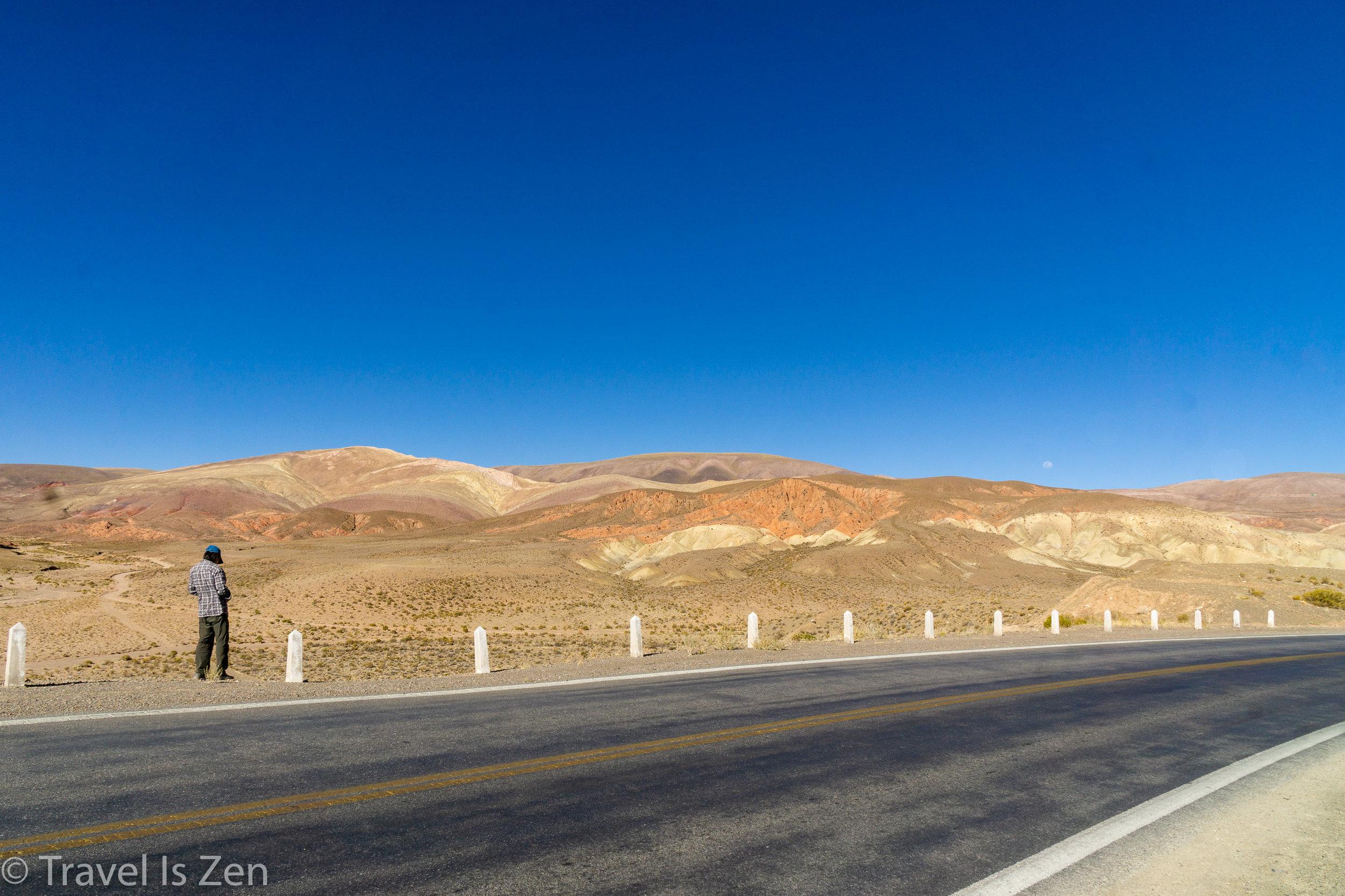 Route 52 near Salinas Grandes
