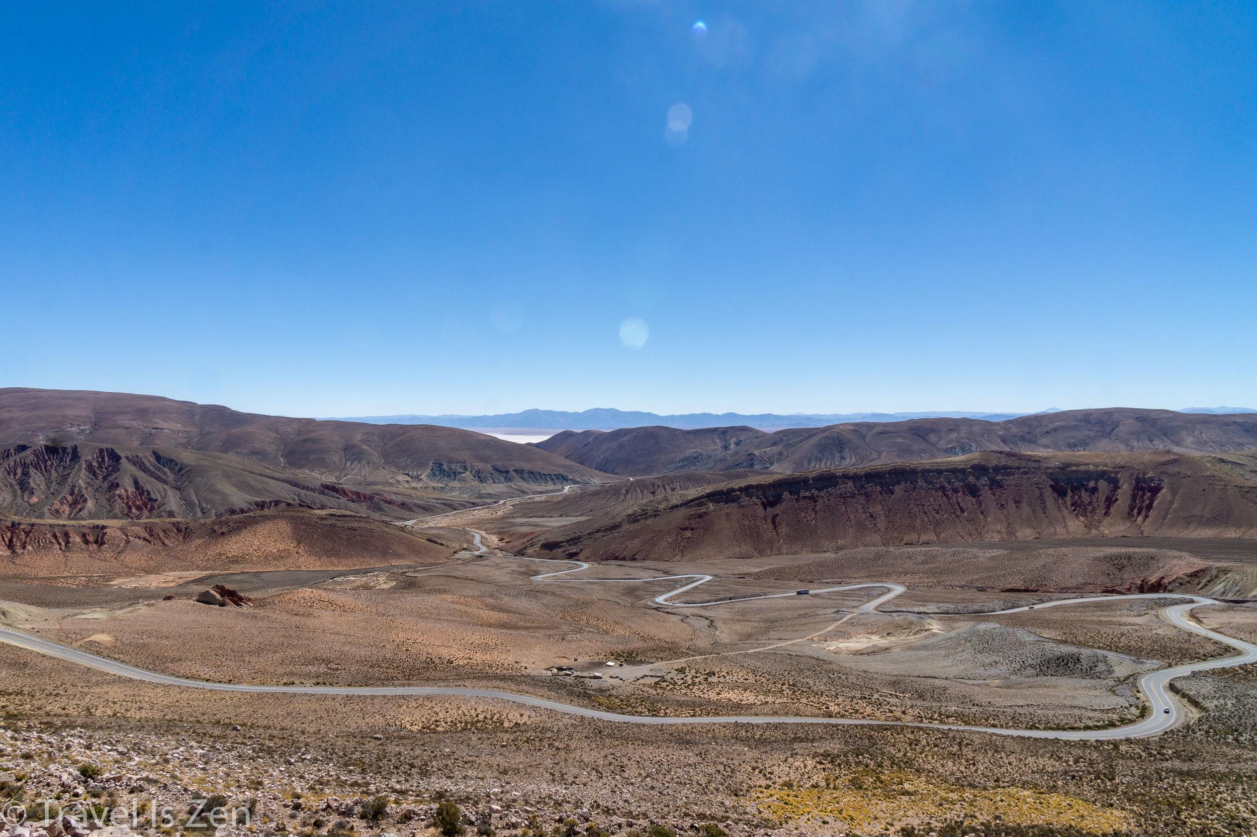 Descending the Lipán Slope towards Salinas Grandes
