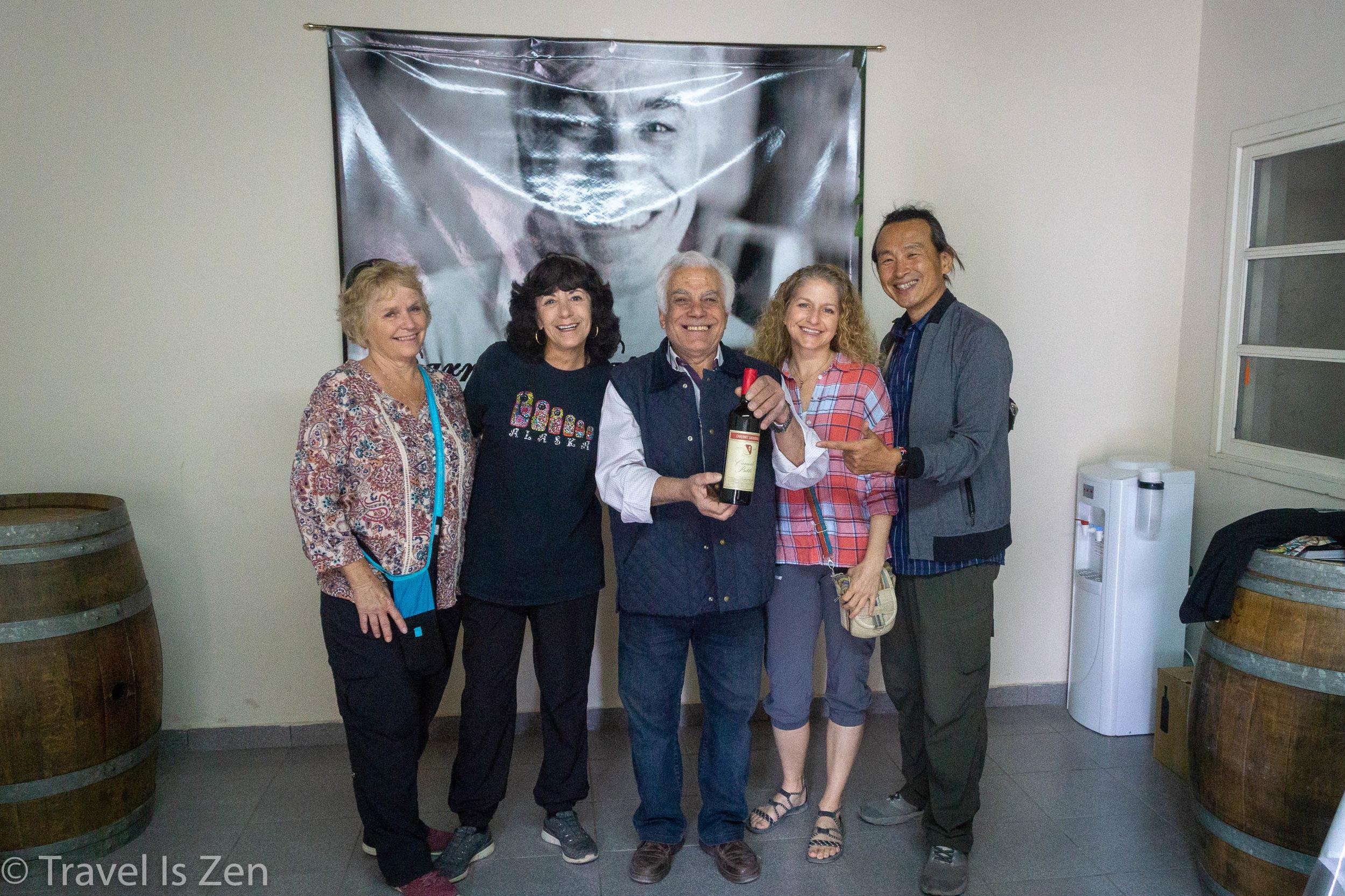 Our crew, visiting Carmello Patti garage bodega, Mendoza Province, Argentina