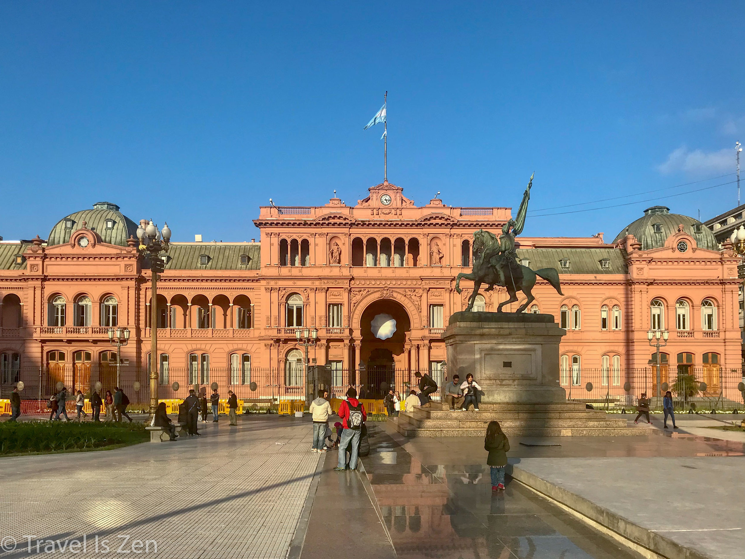 "Casada Rosada, or ""Pink House"". Presidential Executive Mansion and Governing House, Monserrat neighborhood, Buenos Aires"