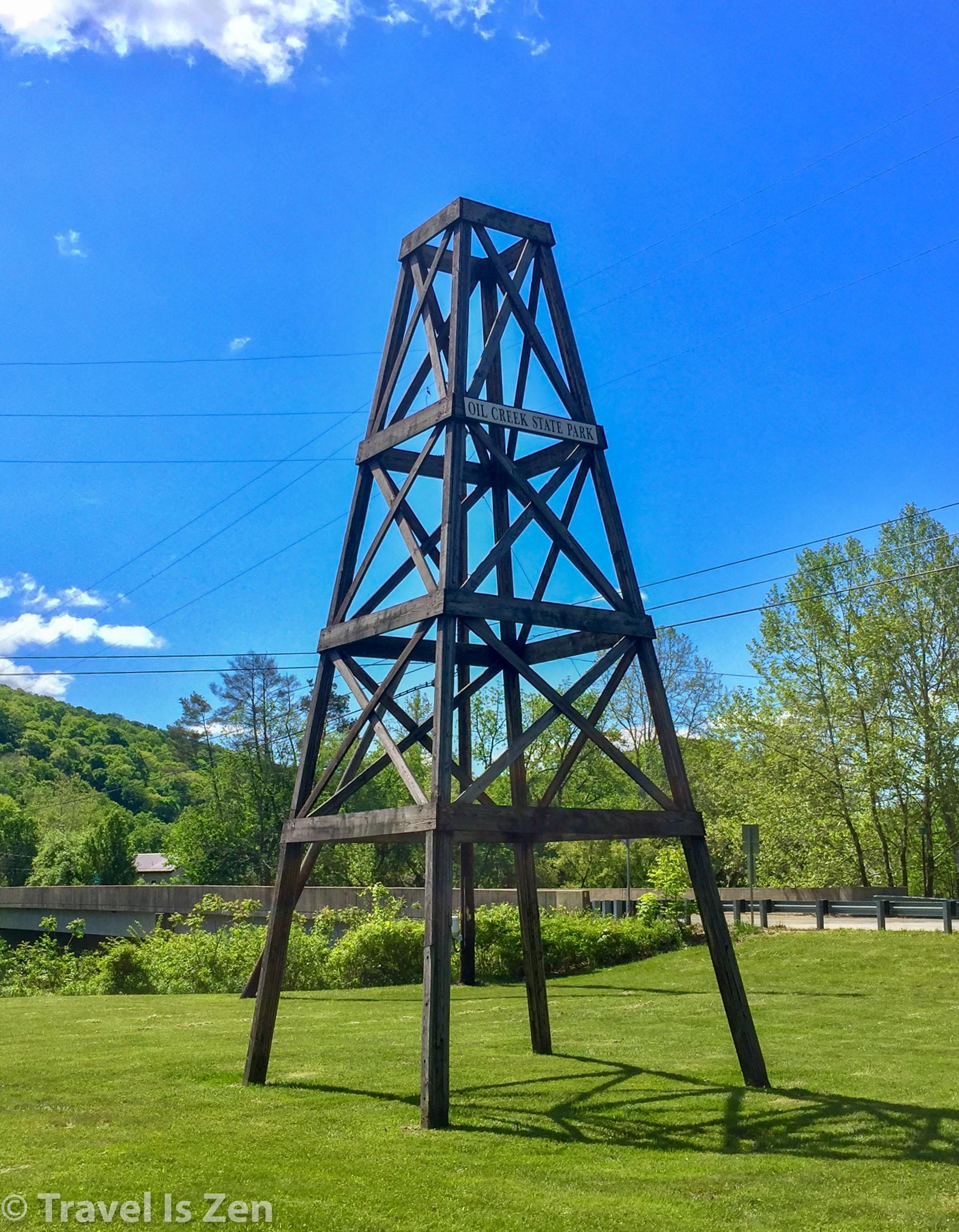 Oil derrick at Oil Creek State Park, PA