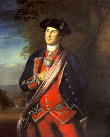 A young George Washington, painted by Charles Wilson Peale