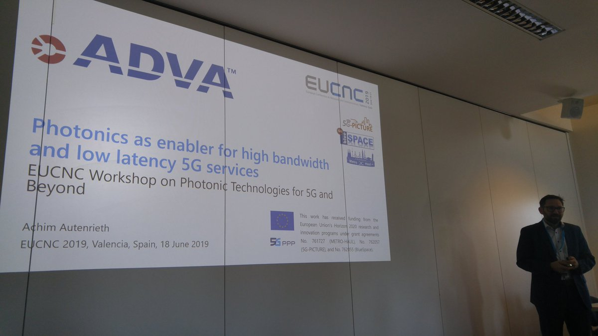 Achim Authenrieth, Director Advanced Technology, ADVA presenting at the Workshop