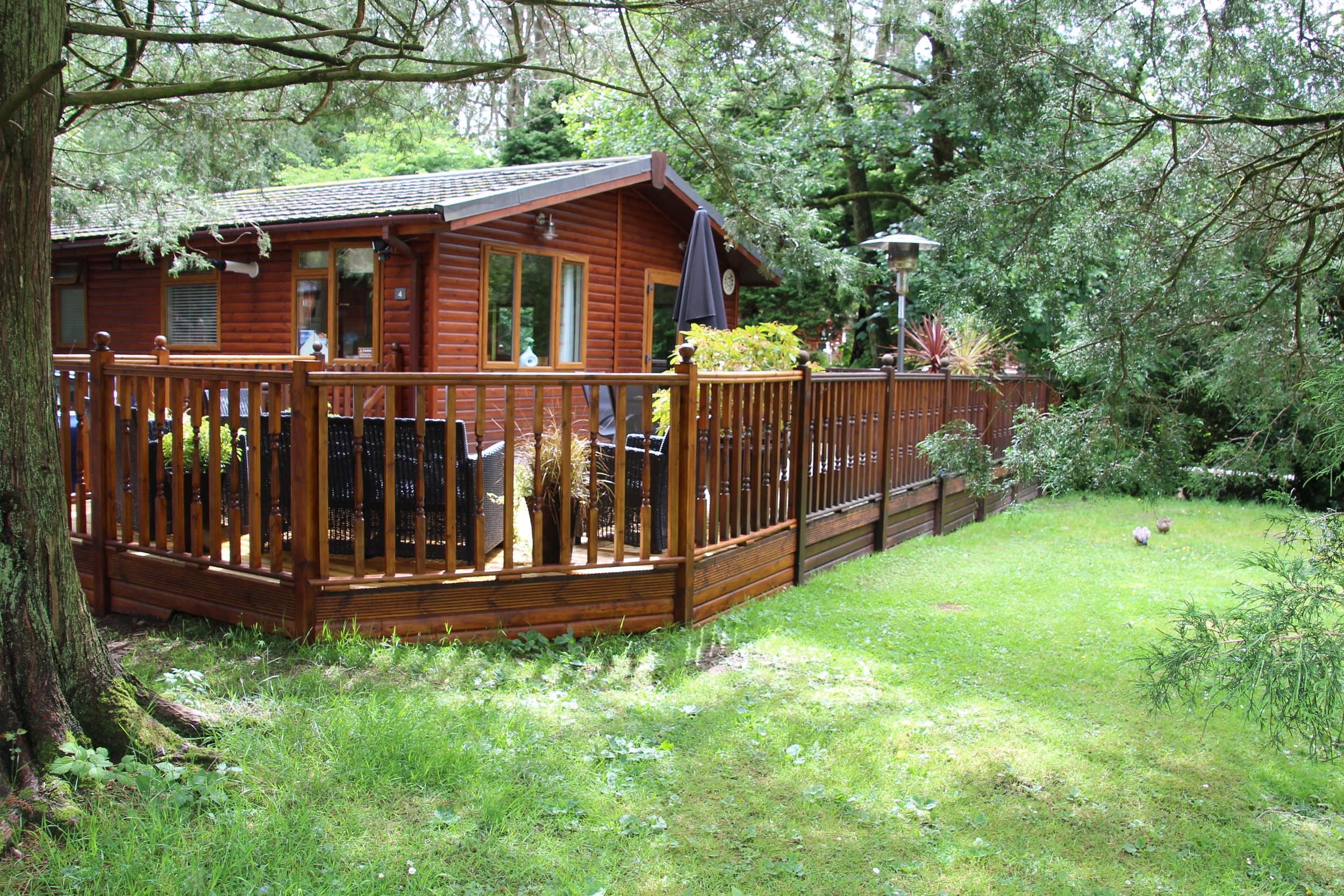 West-facing outdoor deck