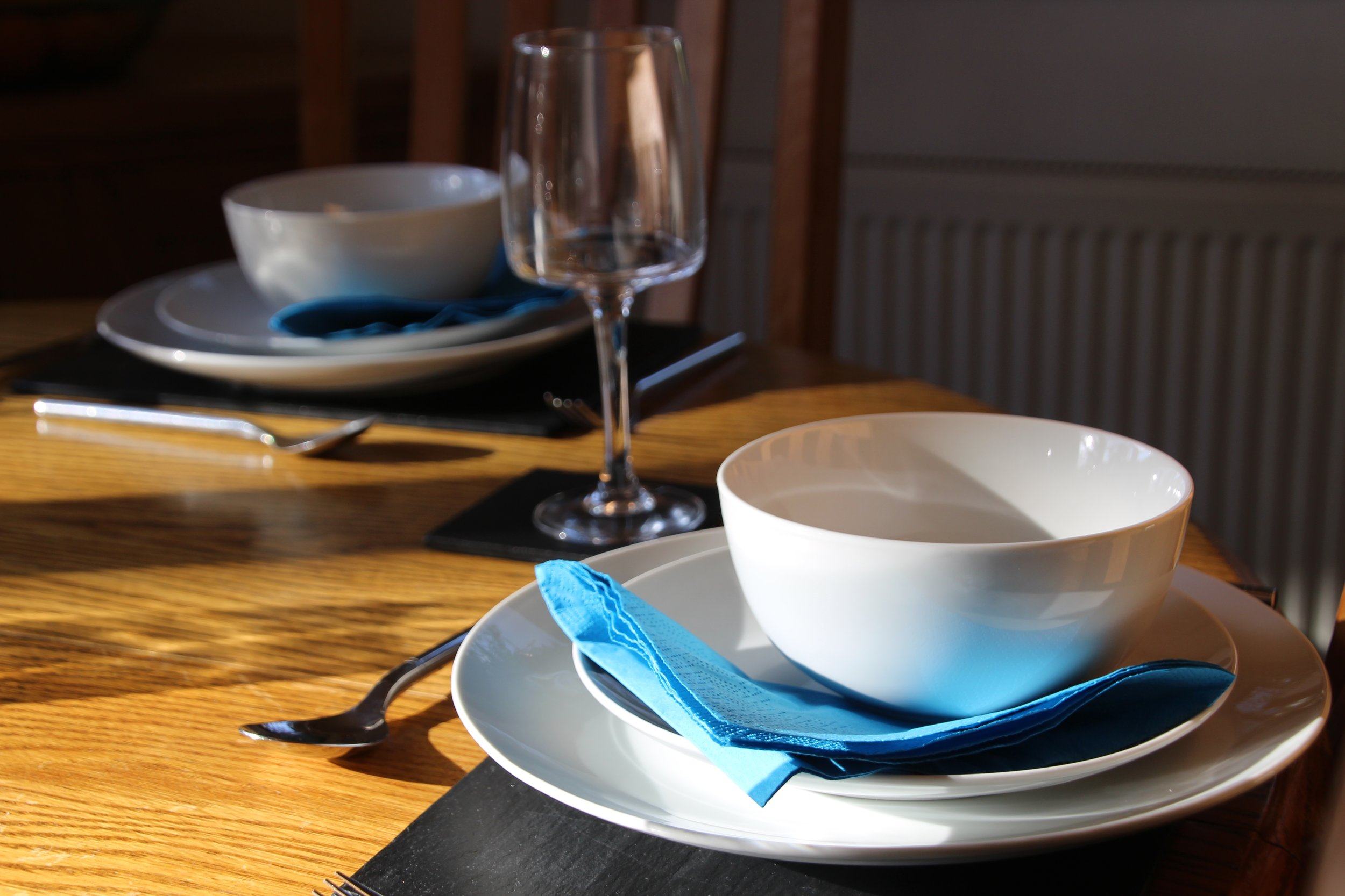 Contemporary crockery and glassware