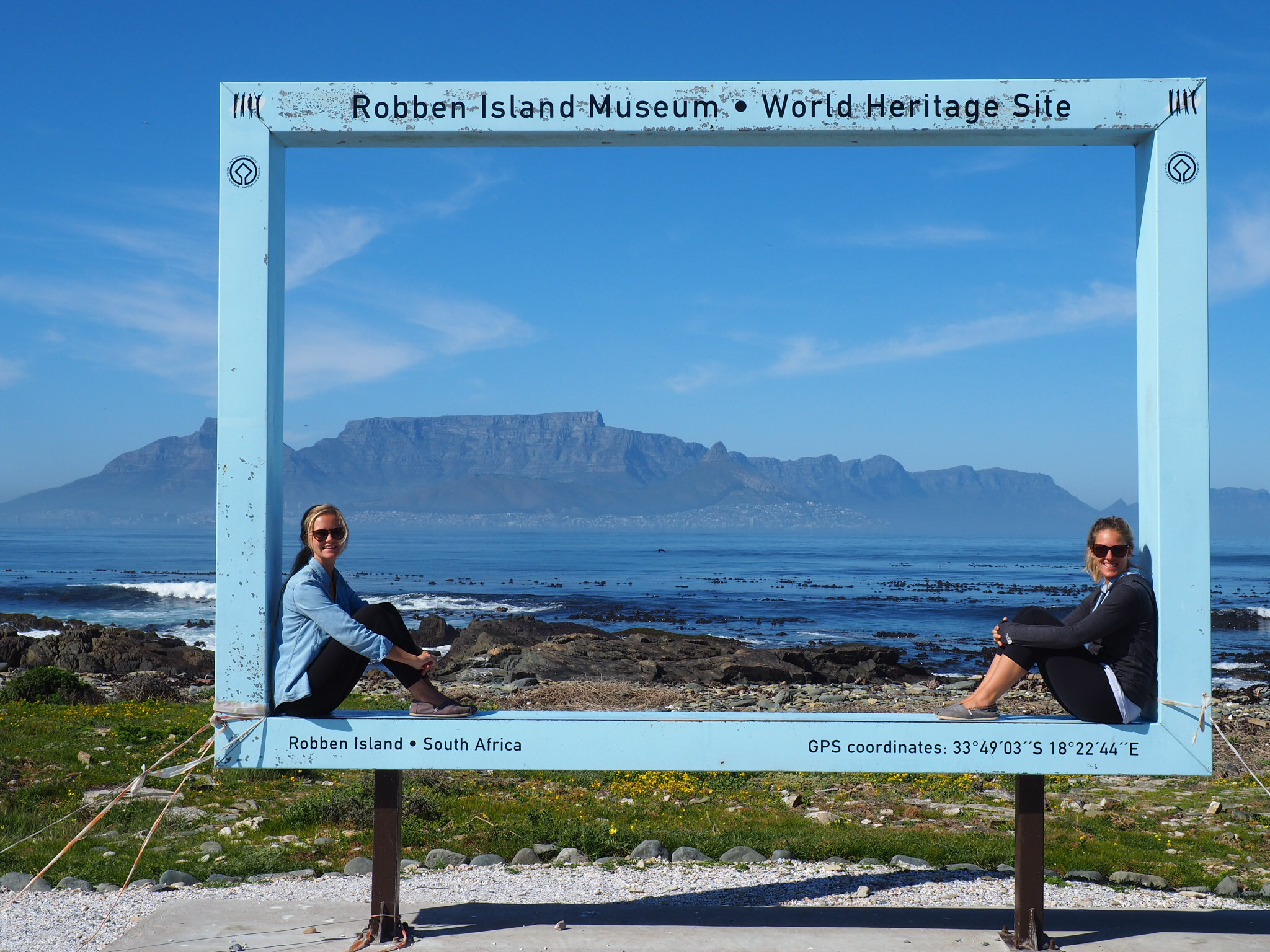 Avec Cape Town en arrière-plan... qui faisait rêver les prisonniers