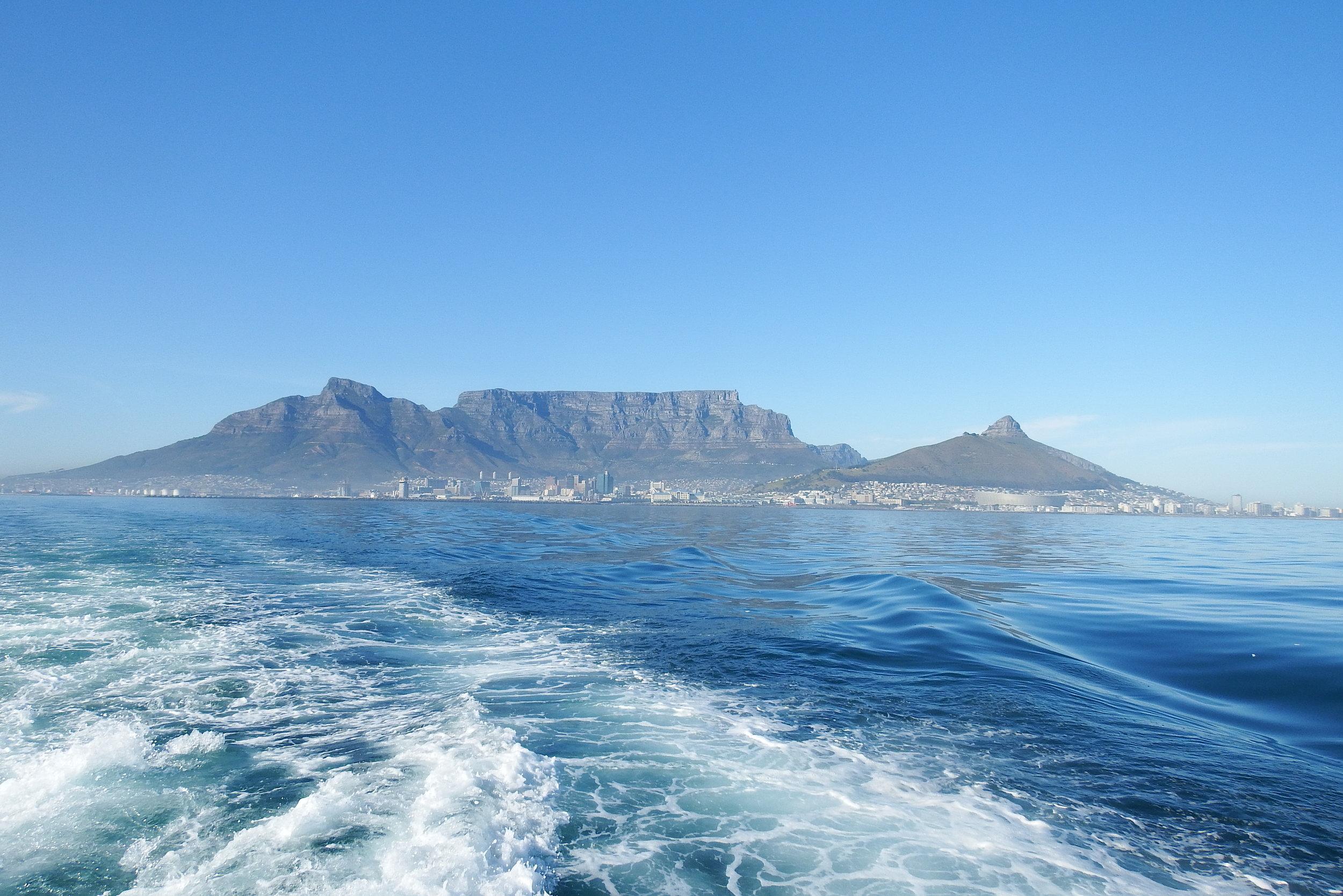 En route vers Robben Island