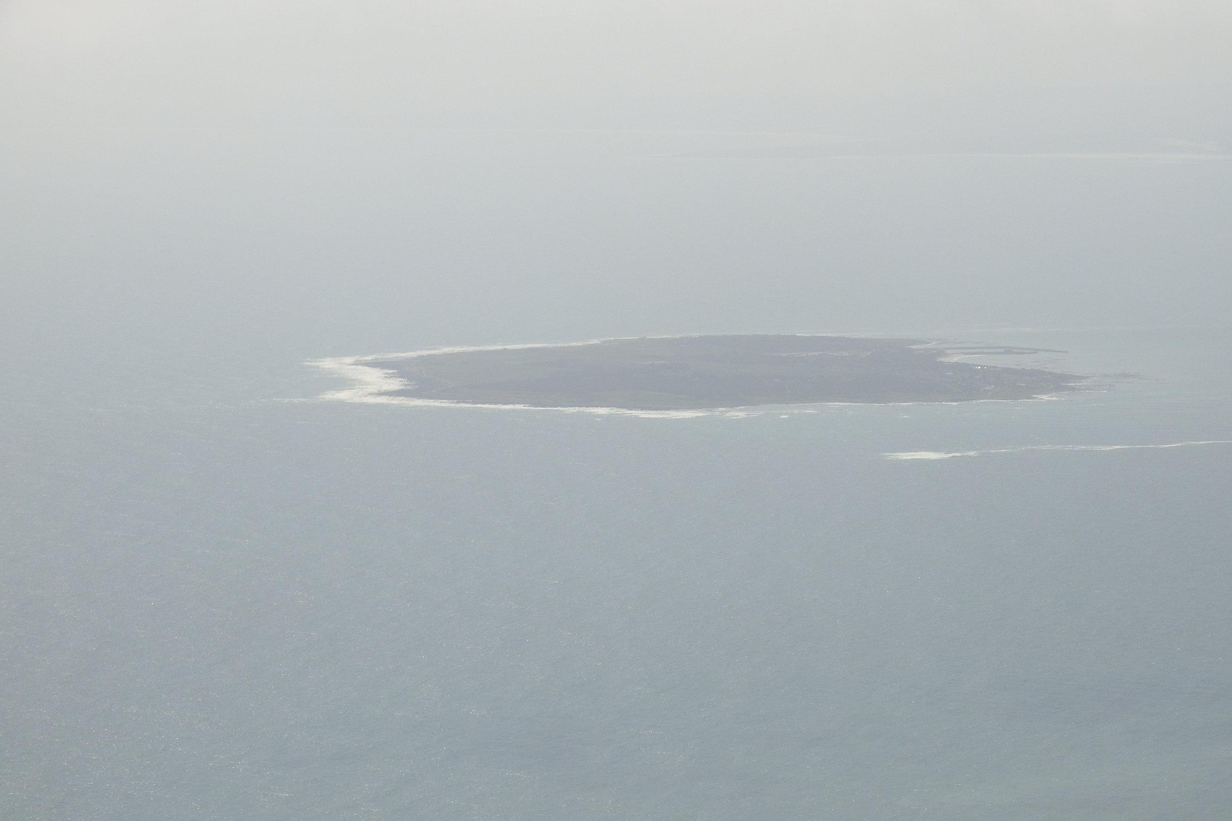 Robben Island vue de Table Mountain