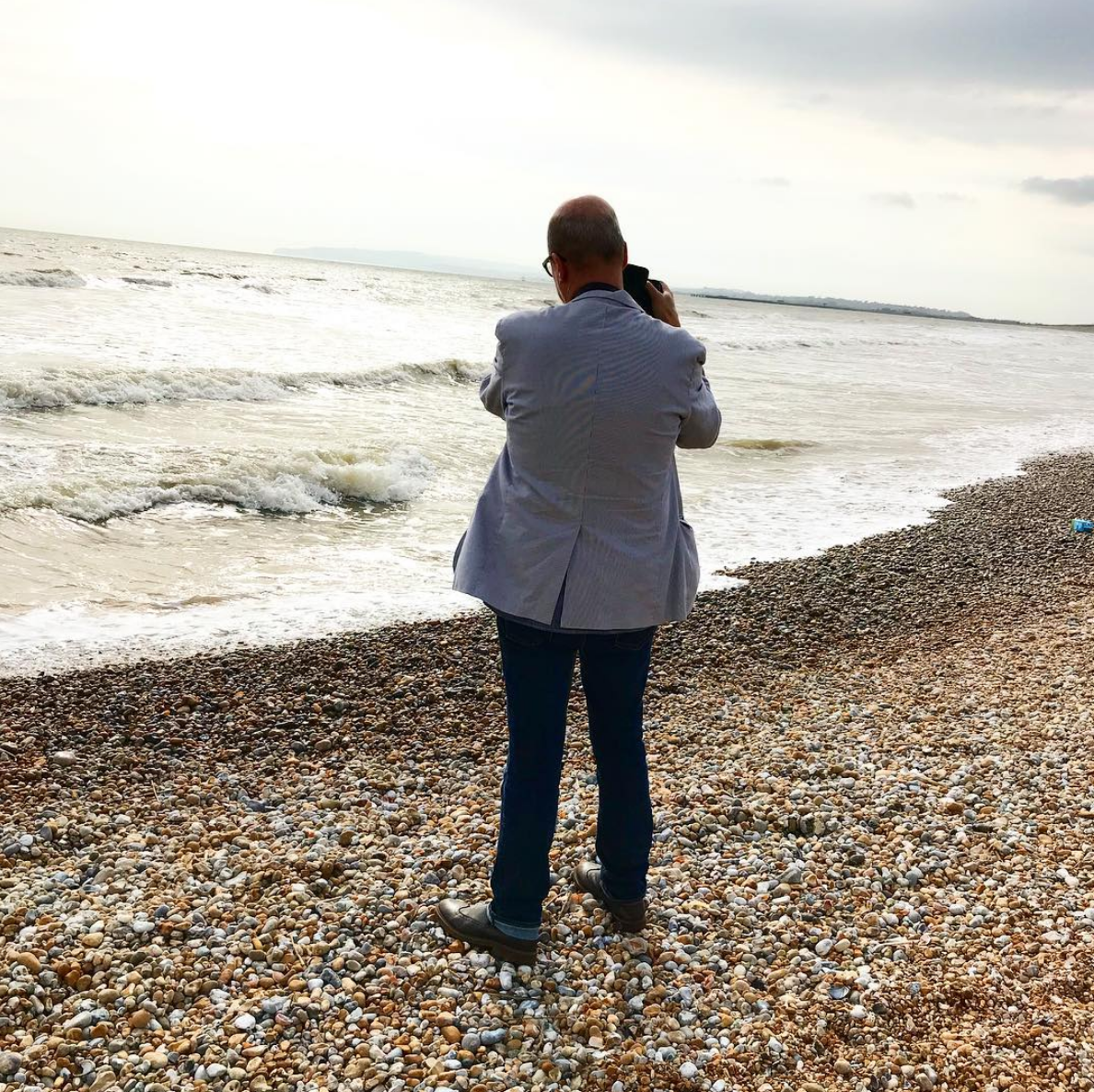 """""""Caught in a moment... Creative director Geoff Waring shooting on the shore at Camber."""" Karena Callen"""