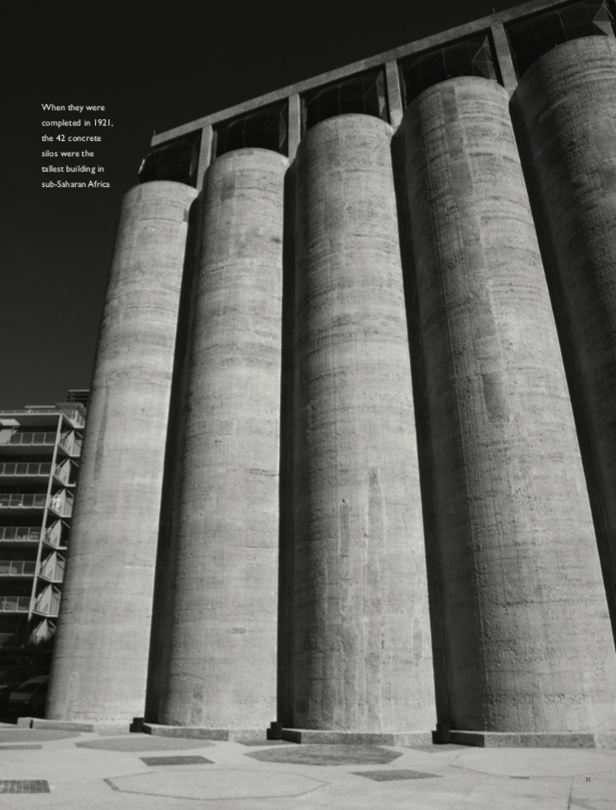 """""""When they were completed in 1921, the 42 concrete silos were the tallest building in sub-Saharan Africa"""" ART OF AFRICA Words & photography Geoff Waring"""