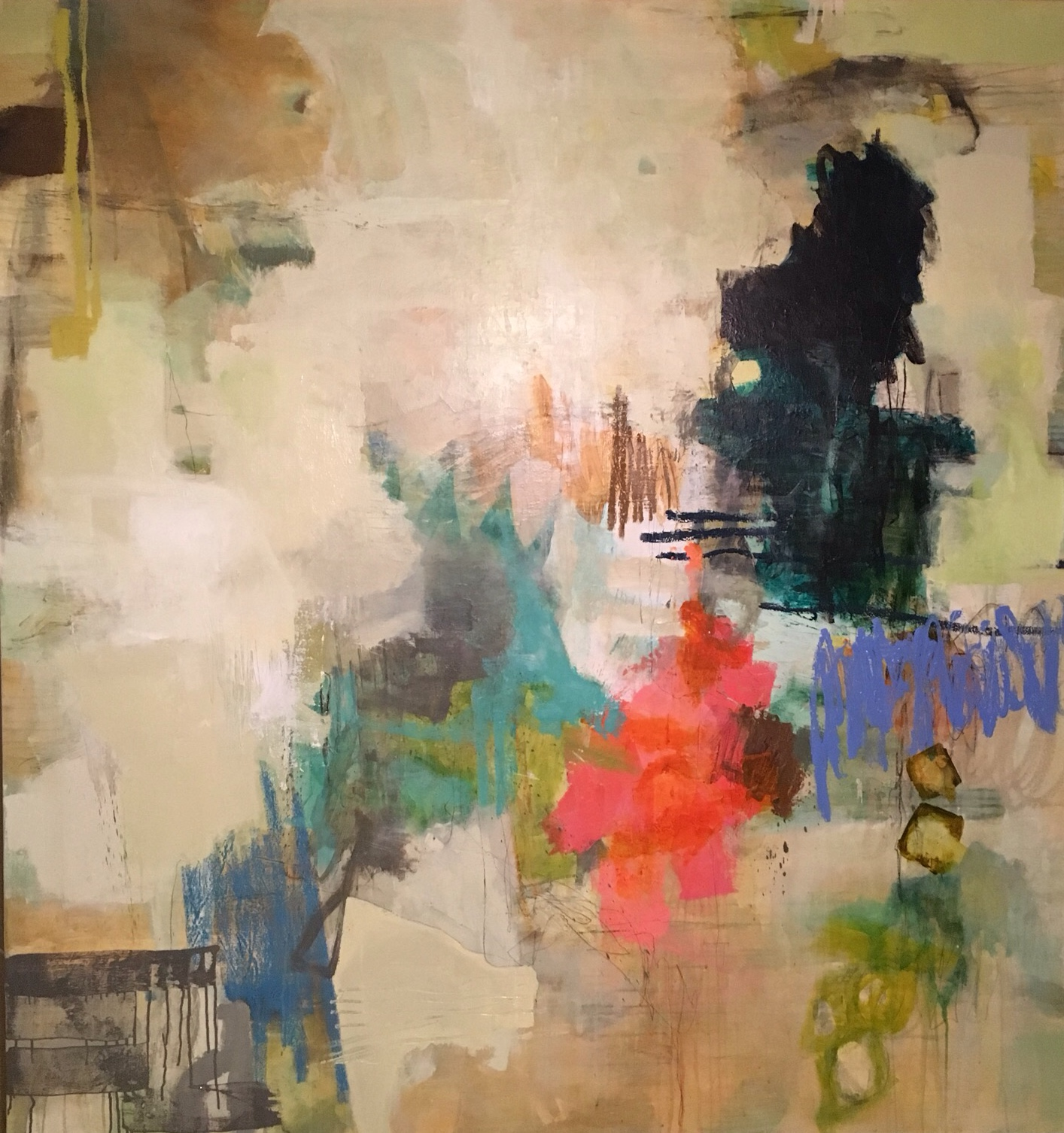 "SOLD-STELLA! #20/ mixed media on canvas/ 77""x 66"""