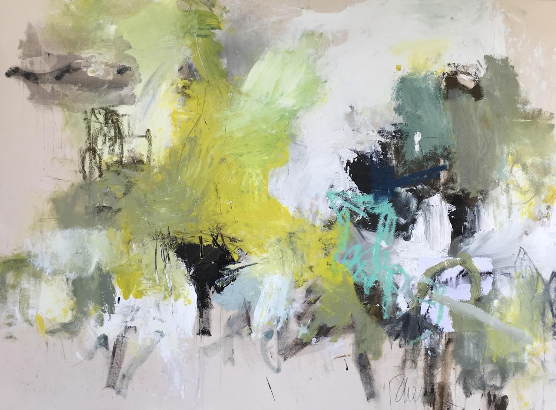 """SMYRNA #37/ mixed media on raw canvas/ 47"""" x 67"""""""